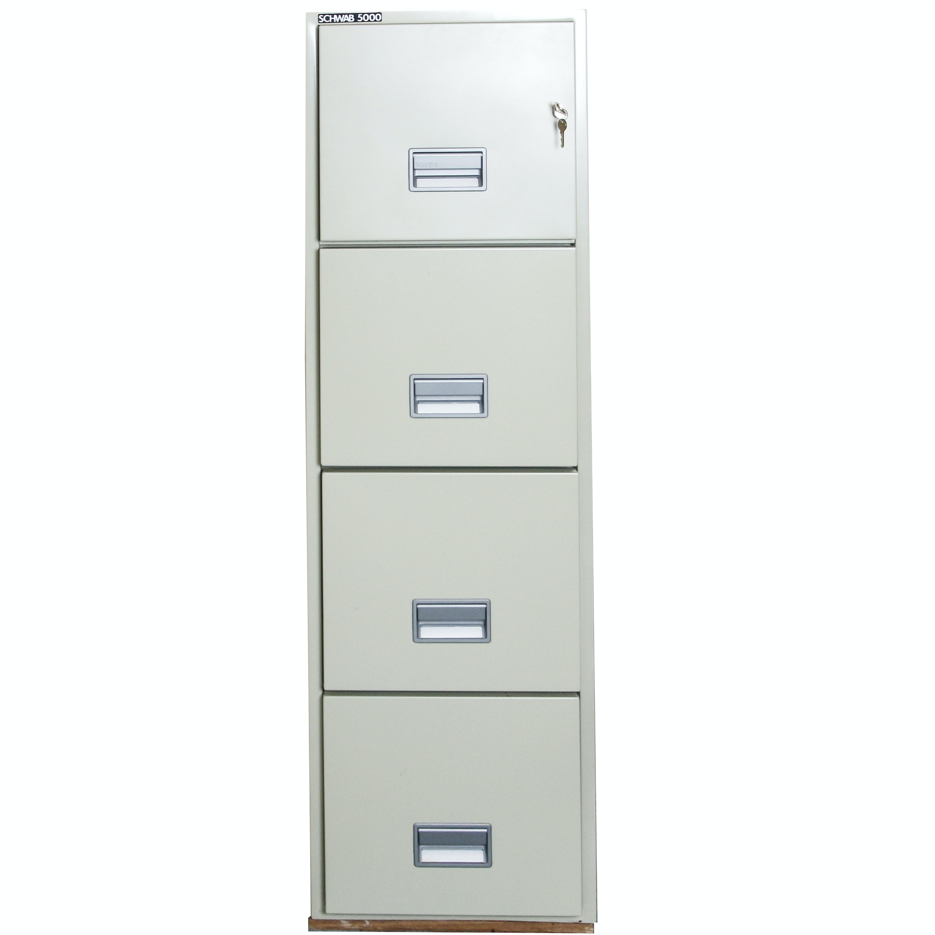 Schwabb 5000 Metal Four Drawer File Cabinet