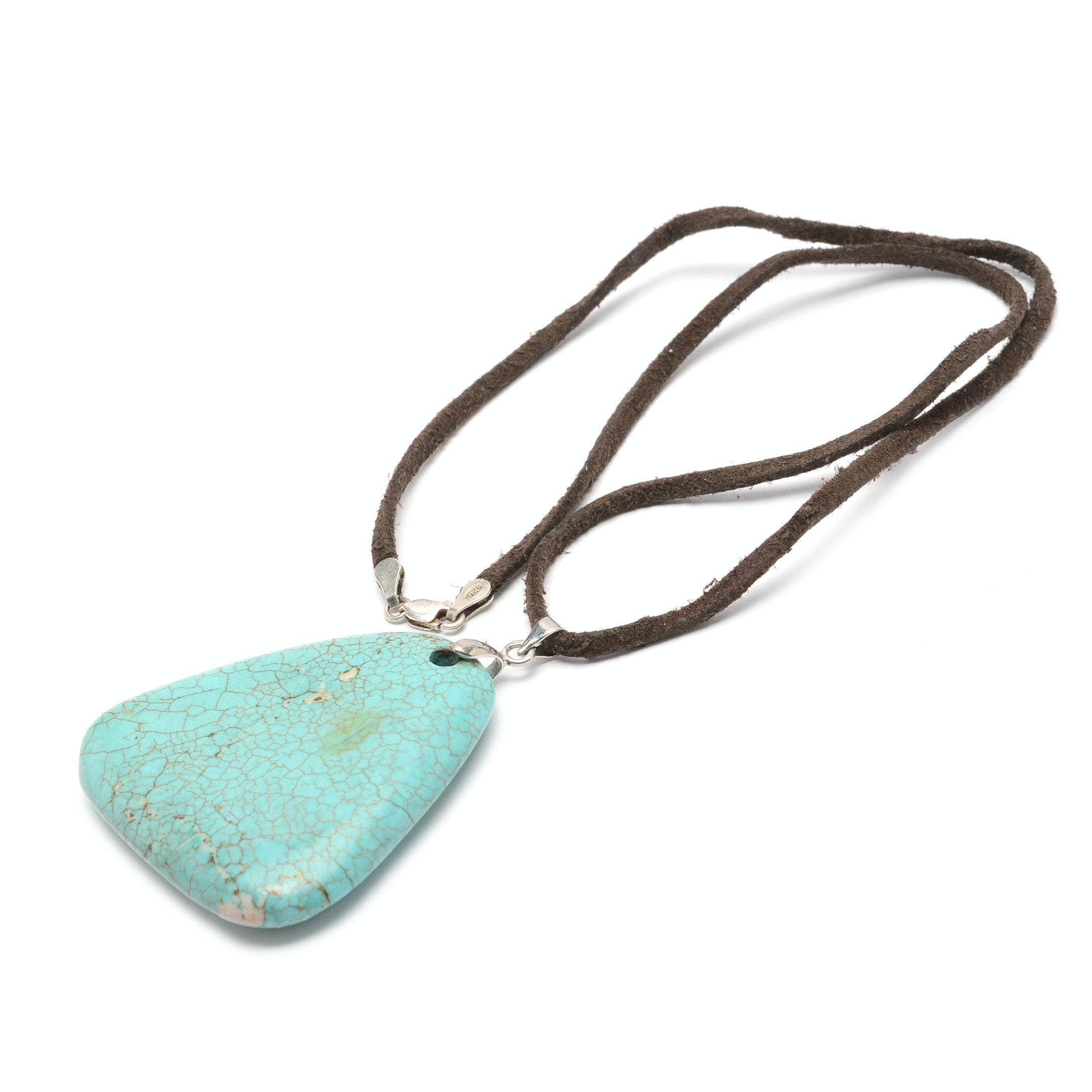 Sterling Silver Dyed Magnesite Necklace