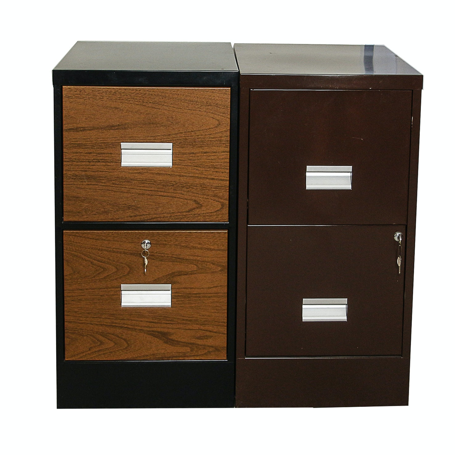 Metal Two-Drawer File Cabinets