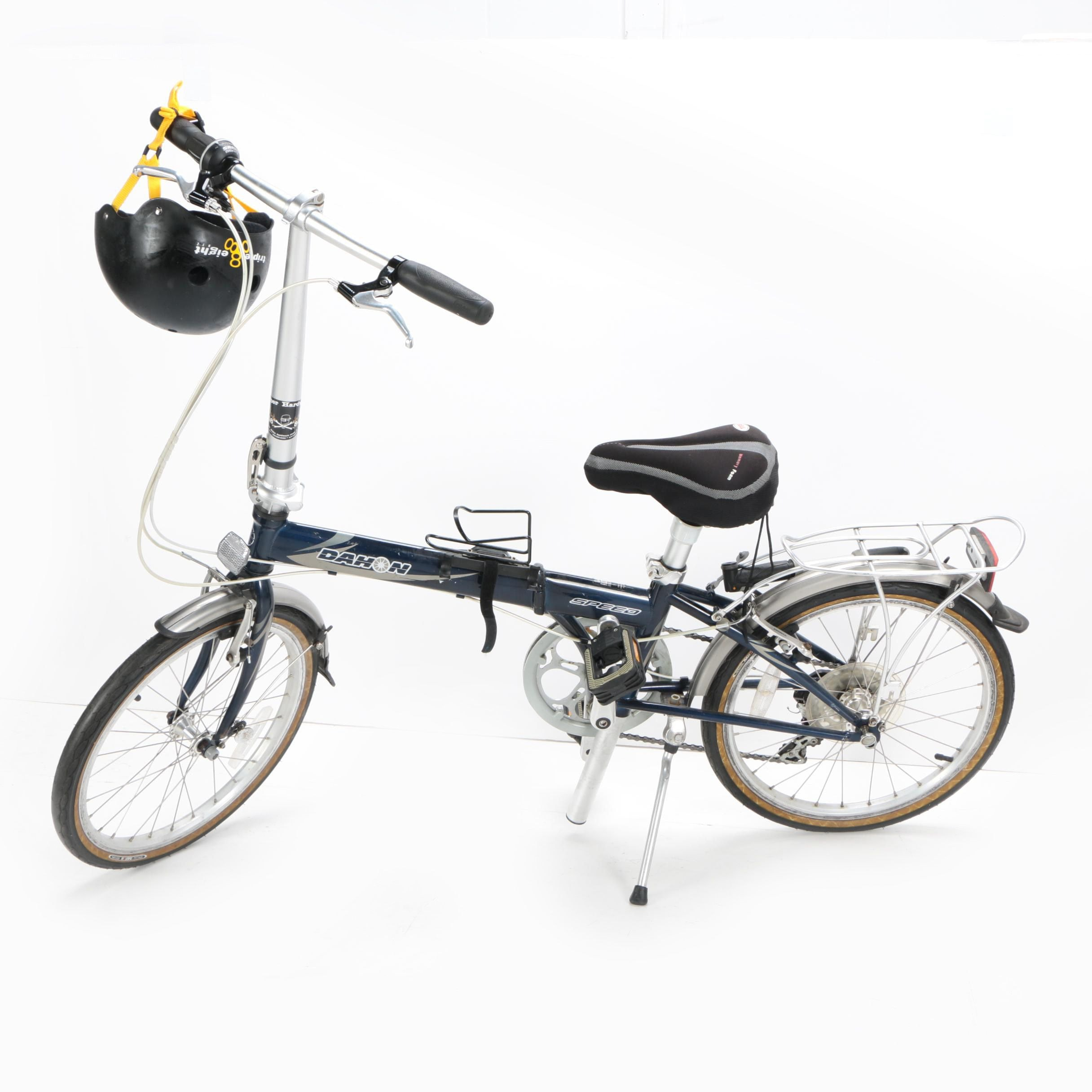 Dahon Seven-Speed Folding Bicycle and Triple Eight Helmet
