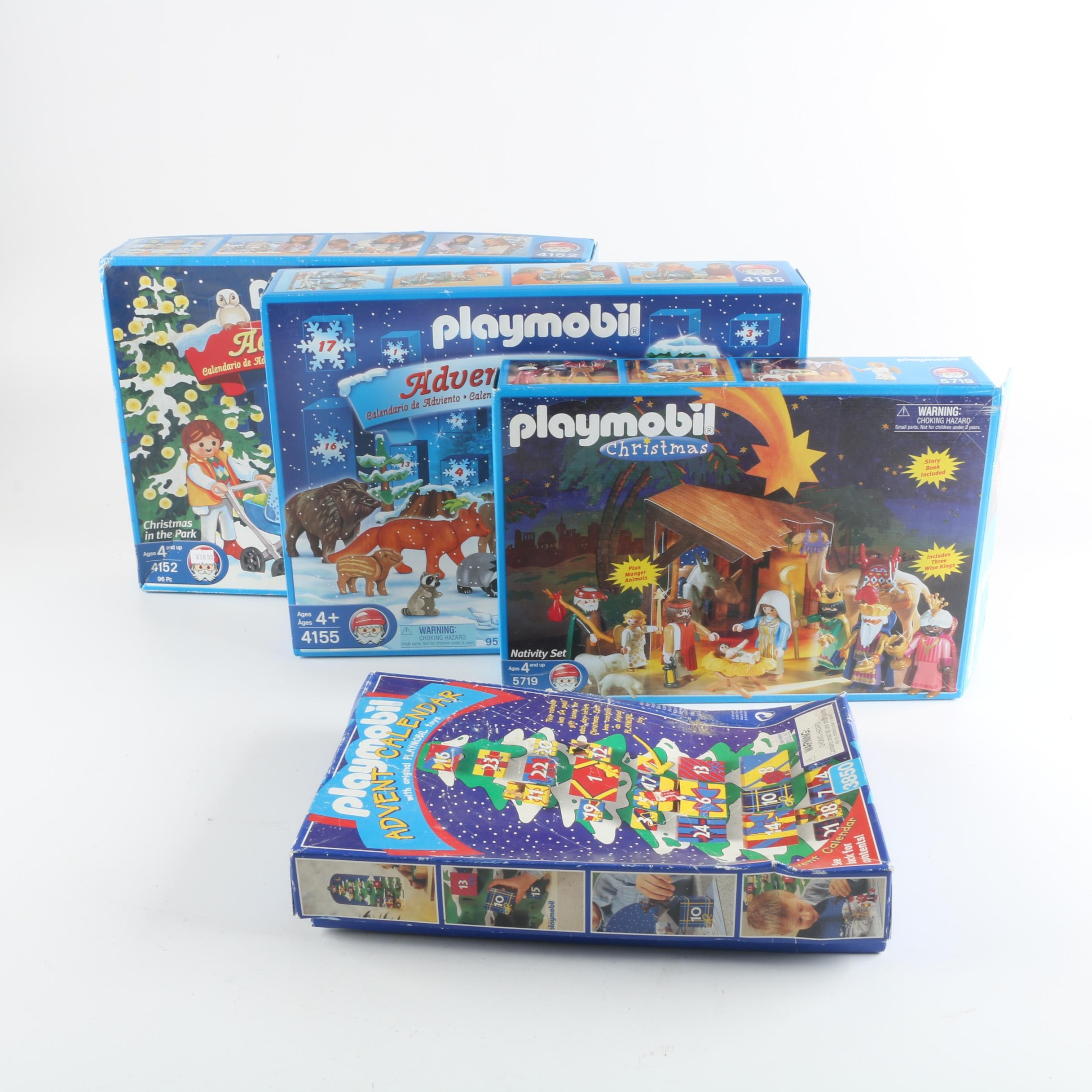 Playmobil Christmas Themed Sets Including Advent Calendars