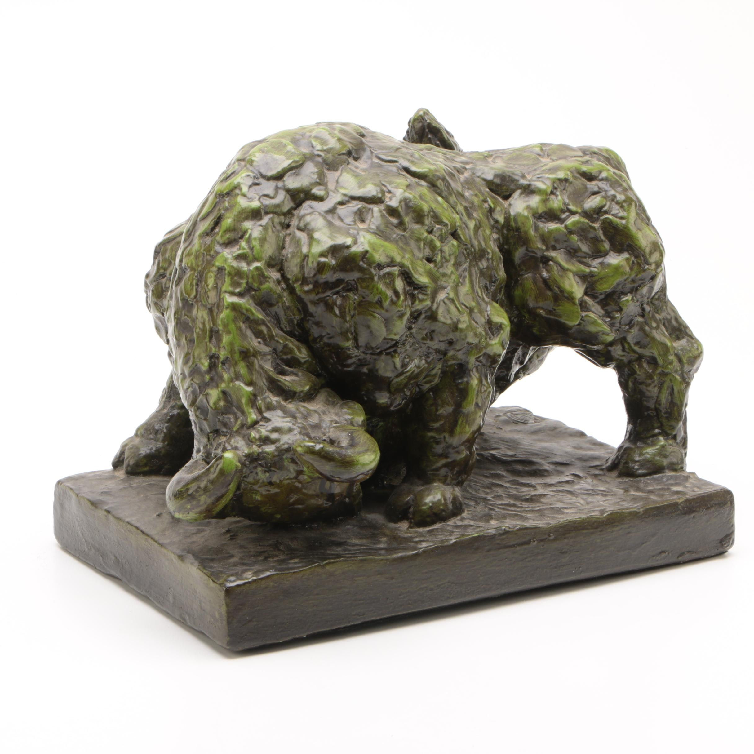 Marwal Industries Inc. Cast Plaster Sculpture of Bull