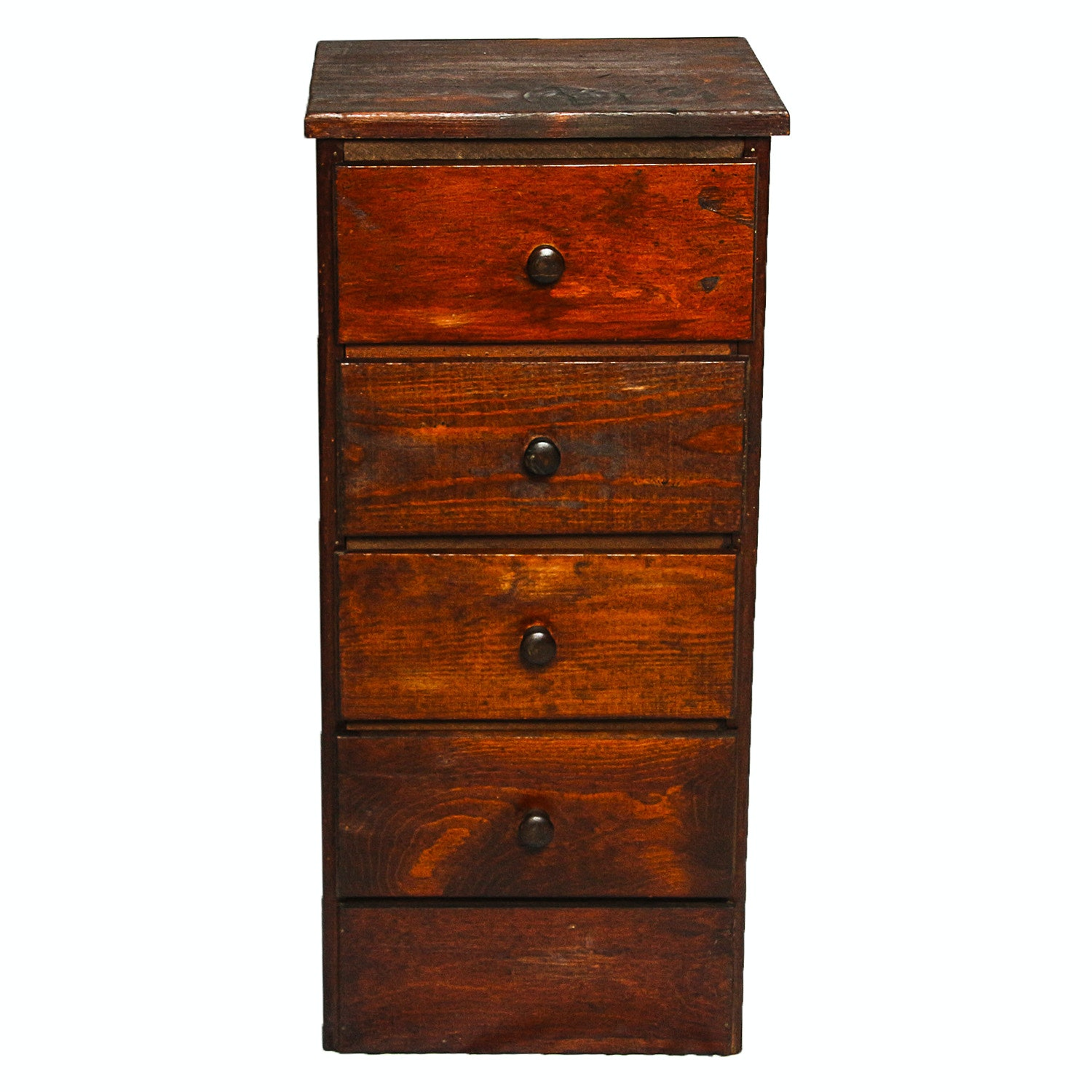 Vintage Rustic Style Four-Drawer Chest