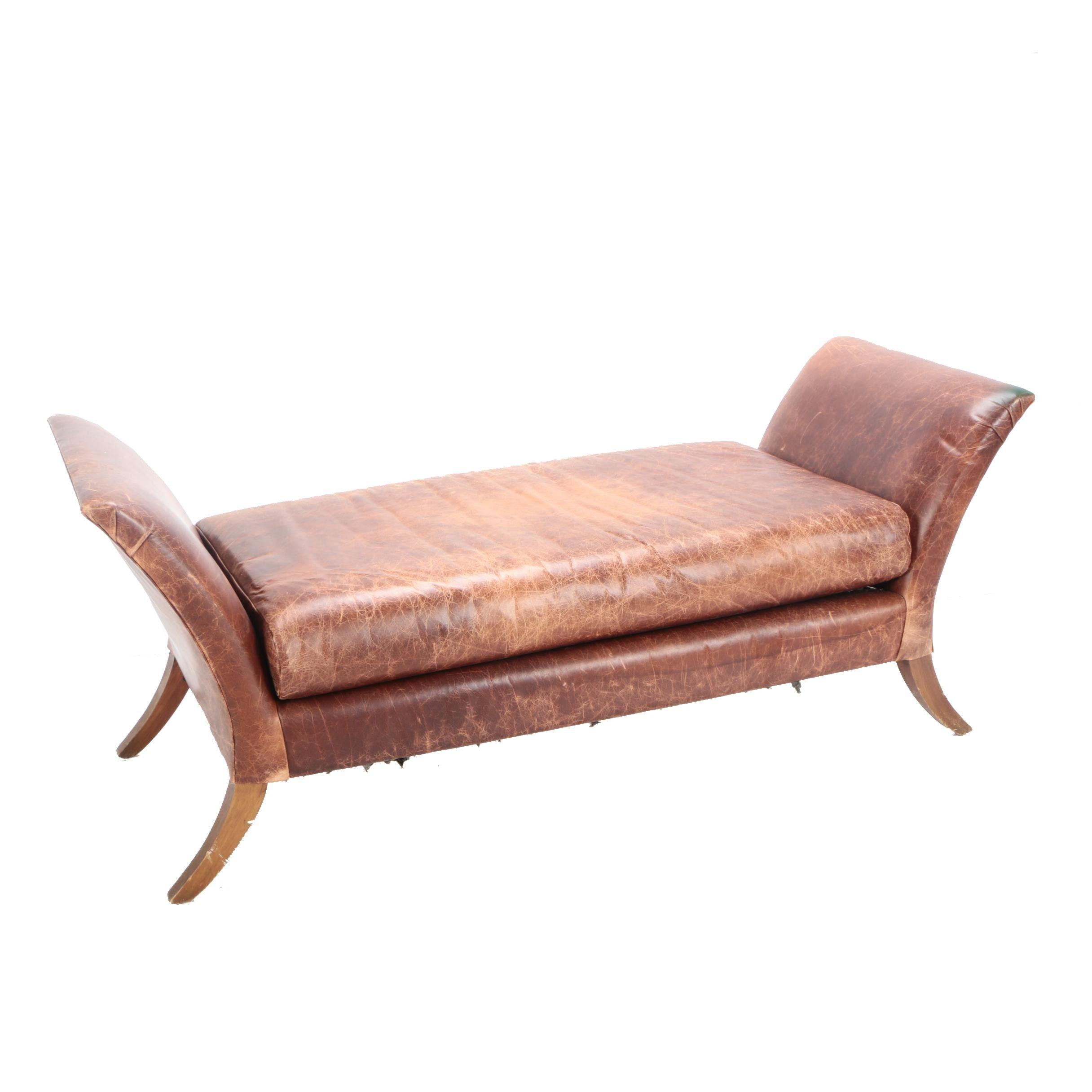 Vintage Leather Bench