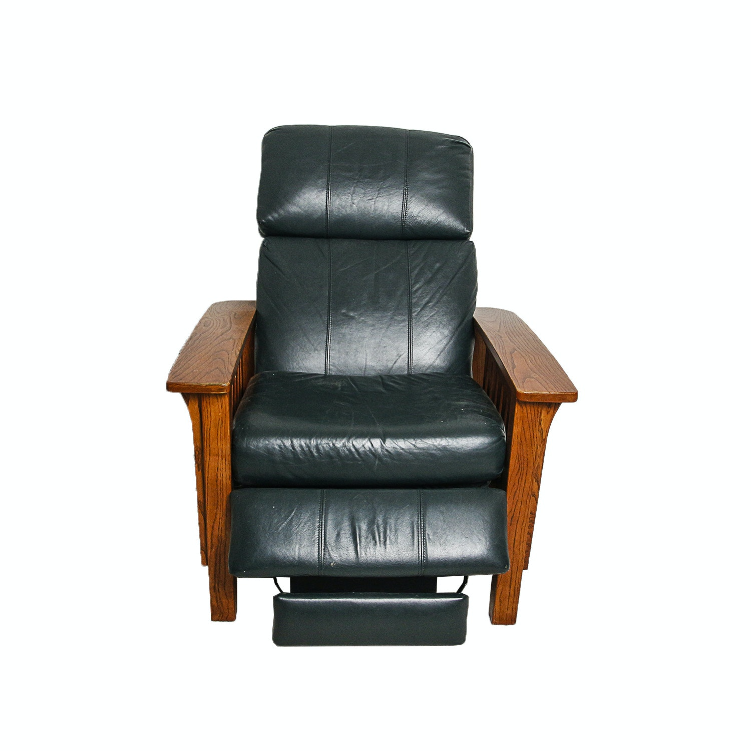 Arts and Crafts Style Oak Recliner by Lane