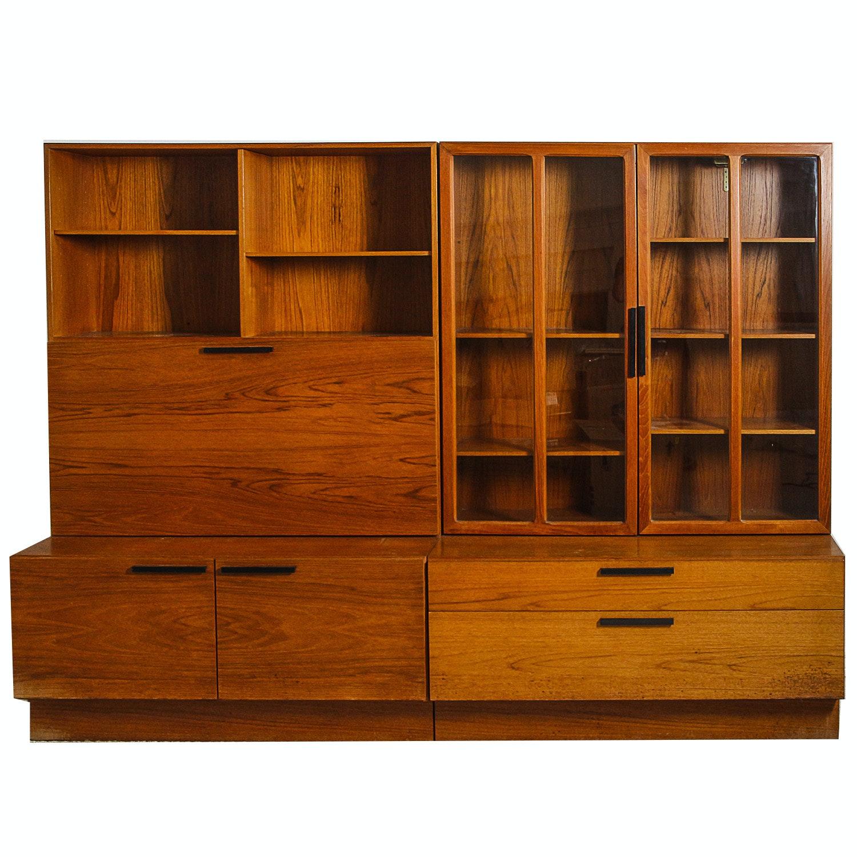 Vintage Mid Century Modern Teak Cabinets ...