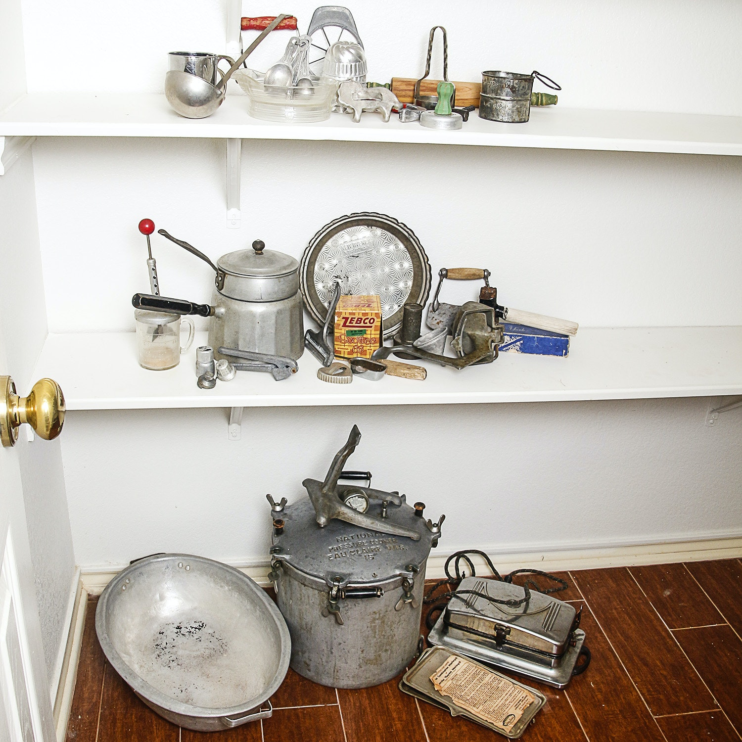 Vintage Kitchen Gadgets and Tools including National Pressure Cooker