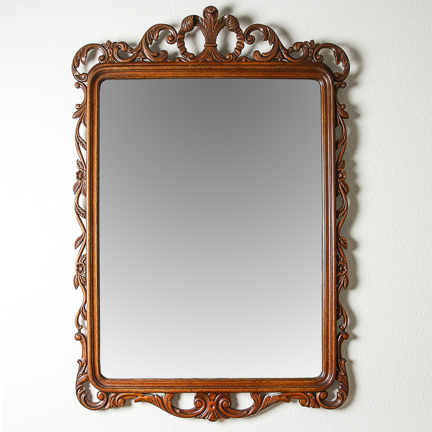 Contemporary George III Style Carved Wood Frame Mirror