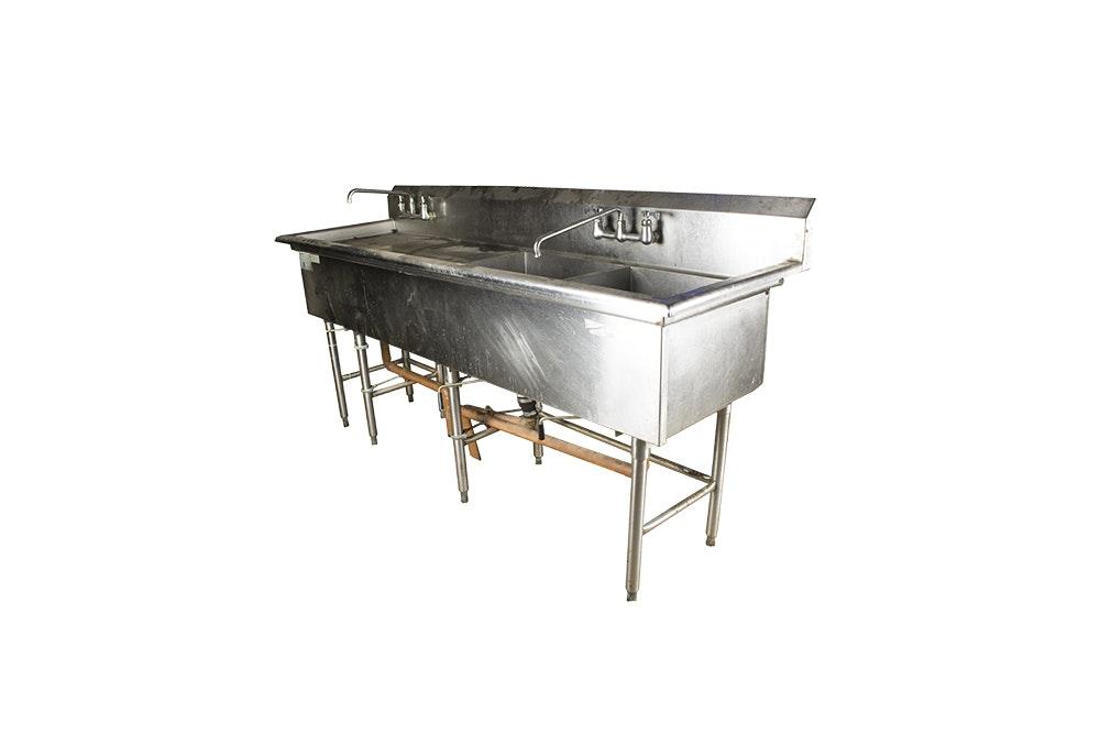 Delfield Industrial Sink and Worktable