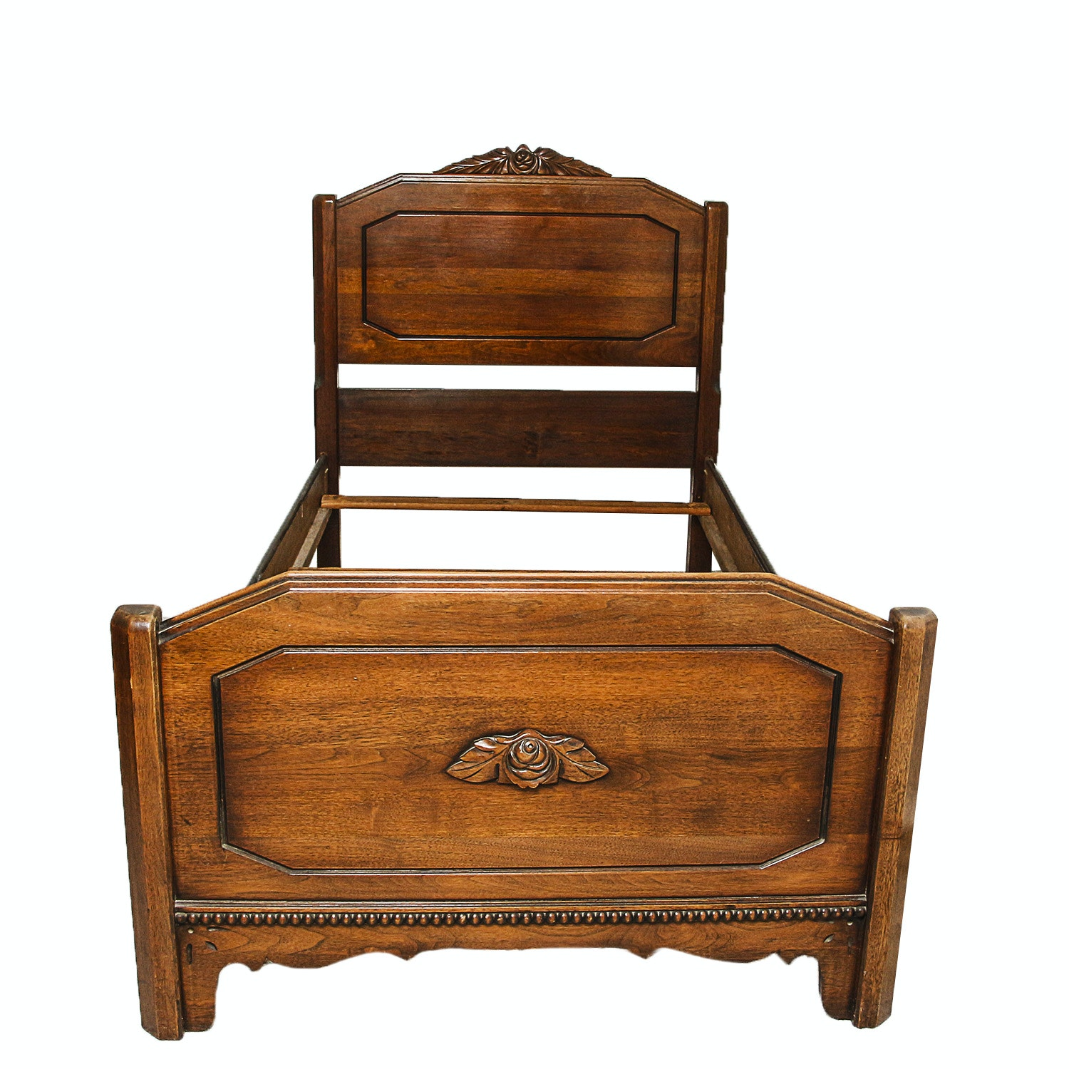 Vintage Victorian Style Twin Size Bed Frame