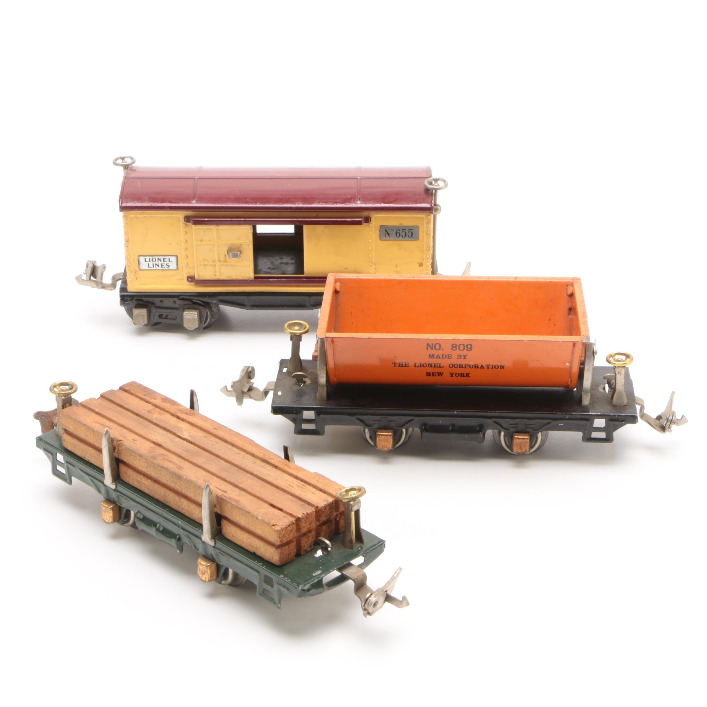 Lionel Pre-War Tinplate Train Cars
