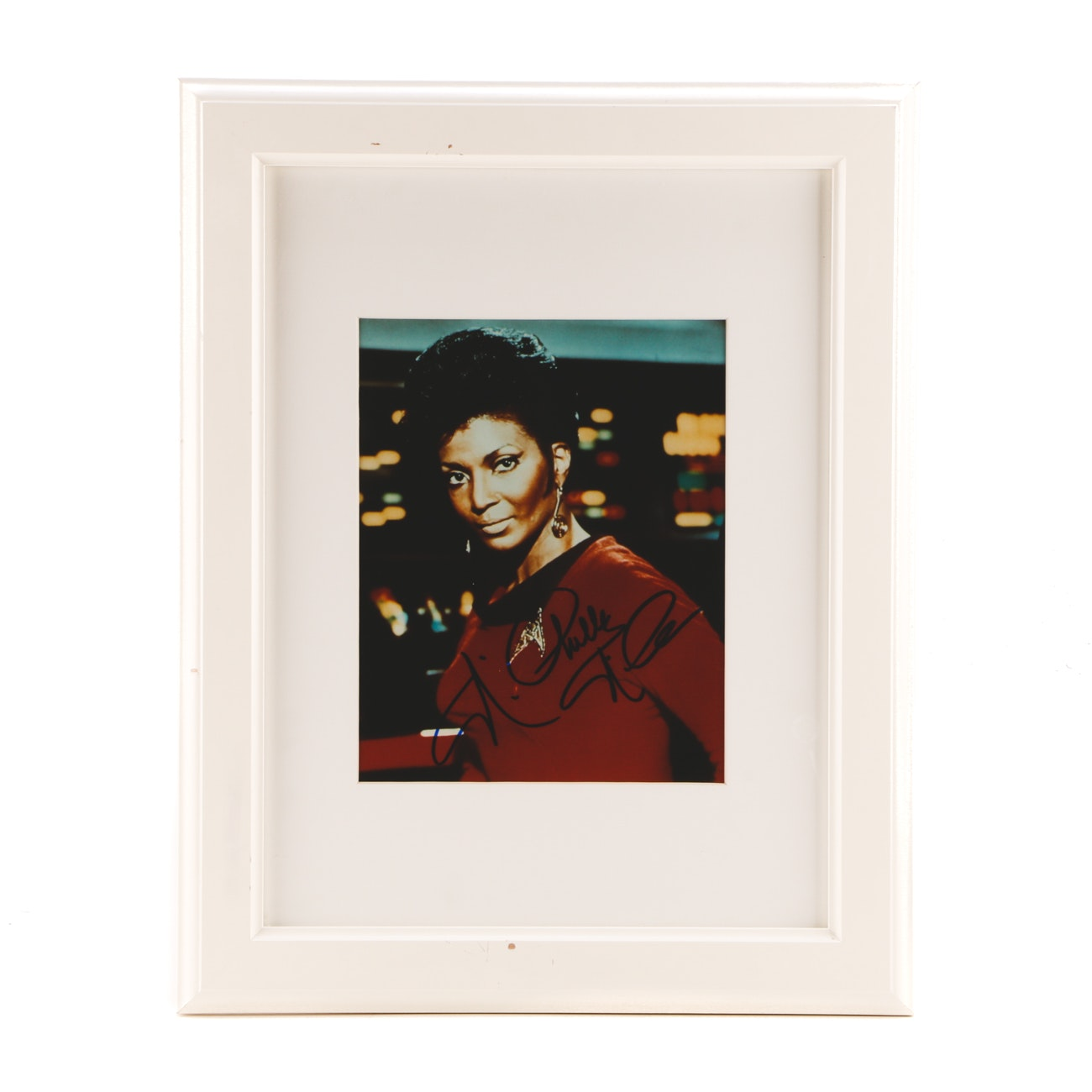 "Nichelle Nichols ""Lt. Uhura"" Signed ""Star Trek"" Framed Display"