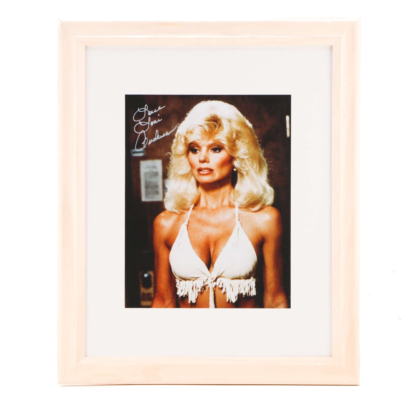 """Loni Anderson """"WKRP in Cincinnati"""" Signed Matted and Framed Display JSA COA"""