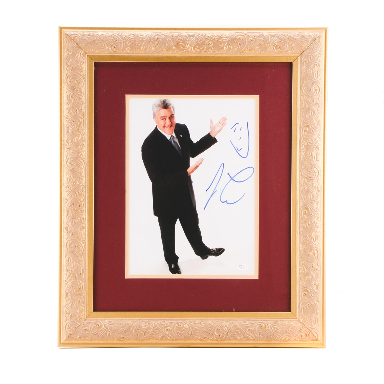 Jay Leno Comedian and TV Host Signed Framed Display JSA COA