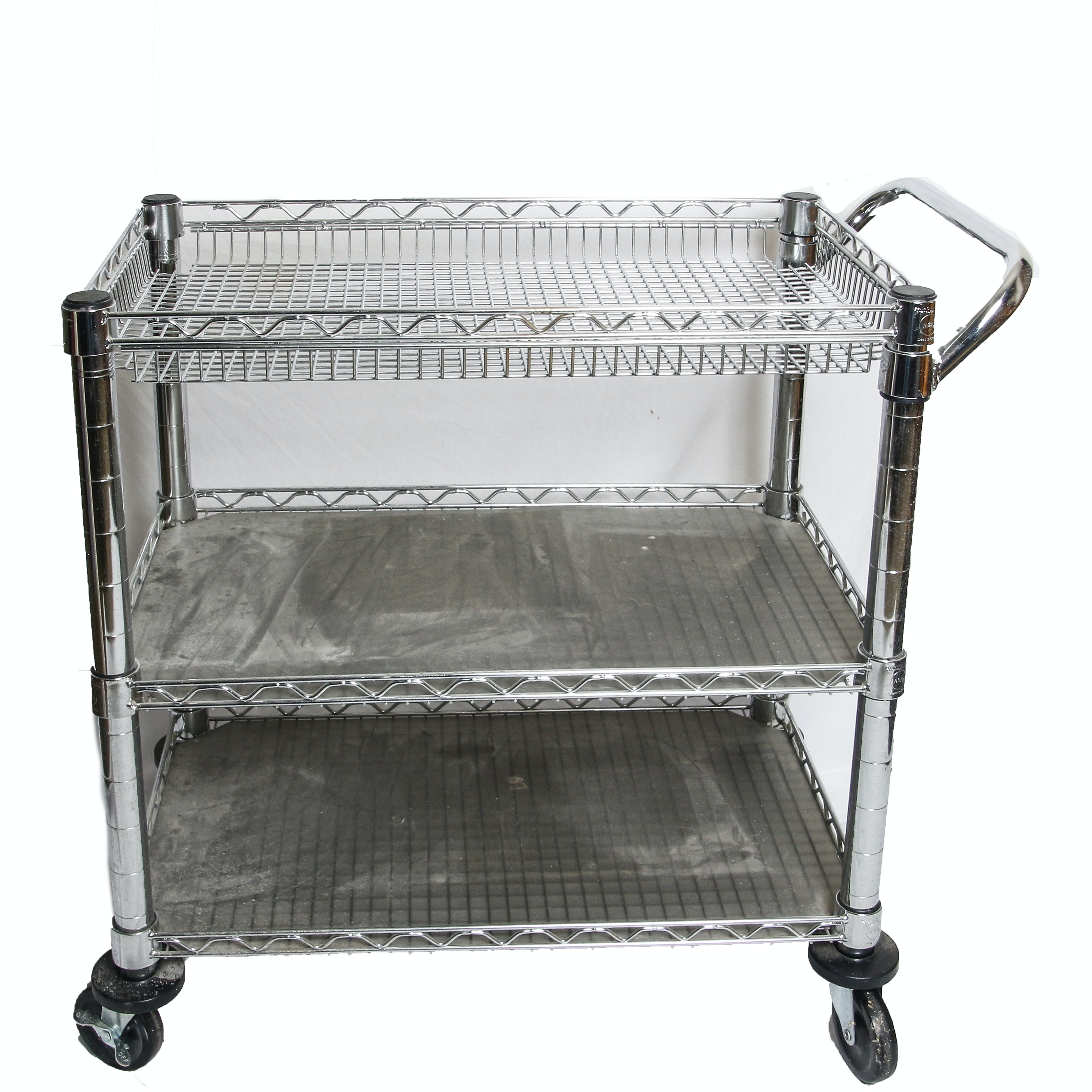 Three-Tiered Rolling Cart