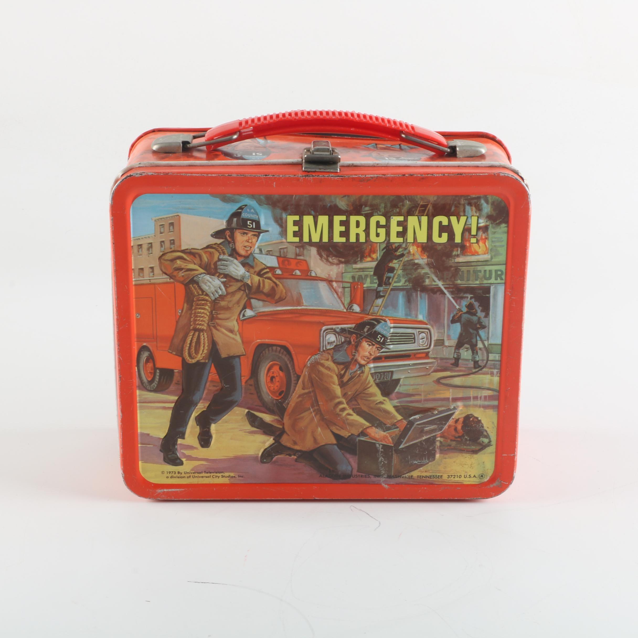 "1973 Aladdin Industries ""Emergency!"" Metal Lunch Box"