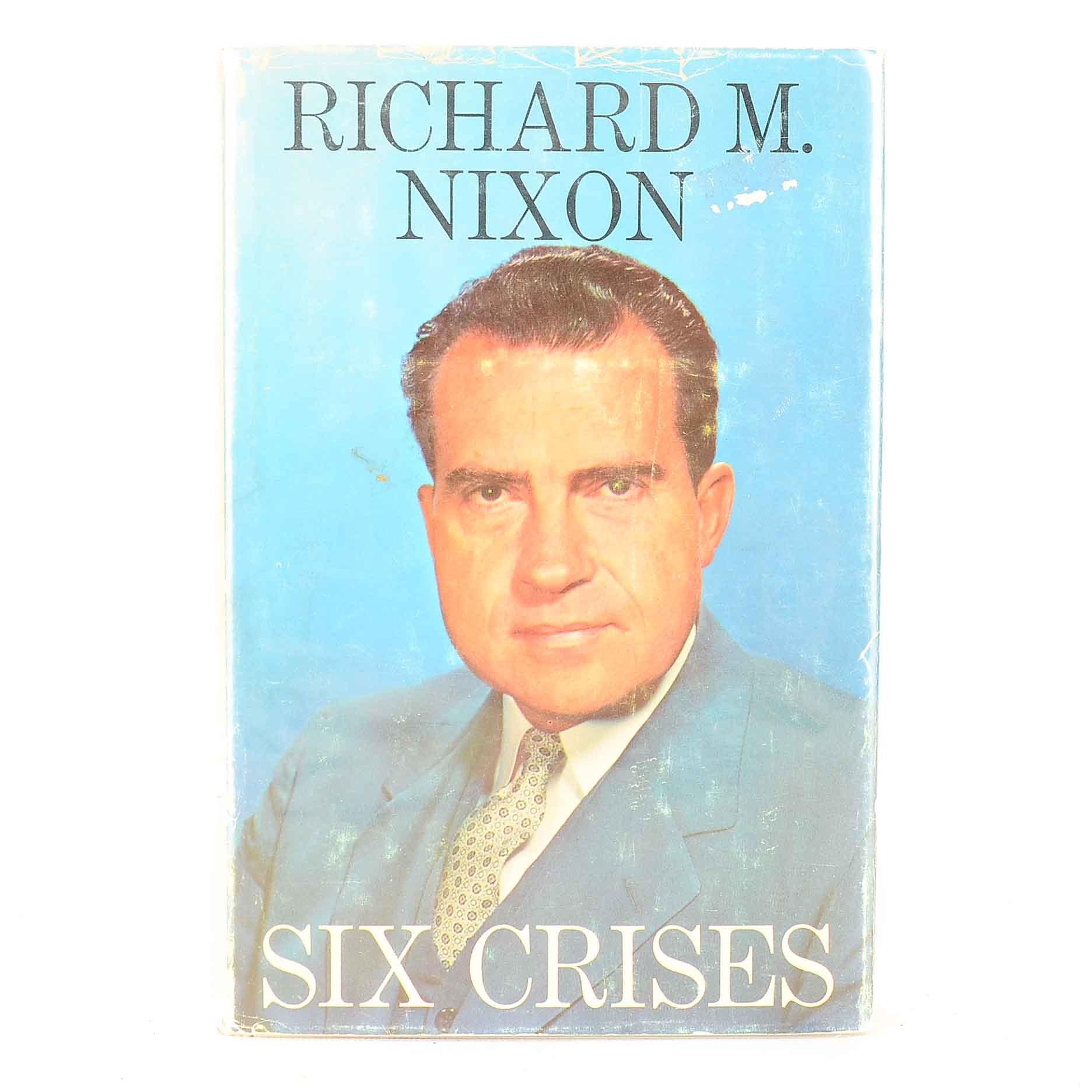 """1962 Signed """"Six Crises"""" by Richard M. Nixon Book PSA/DNA COA"""