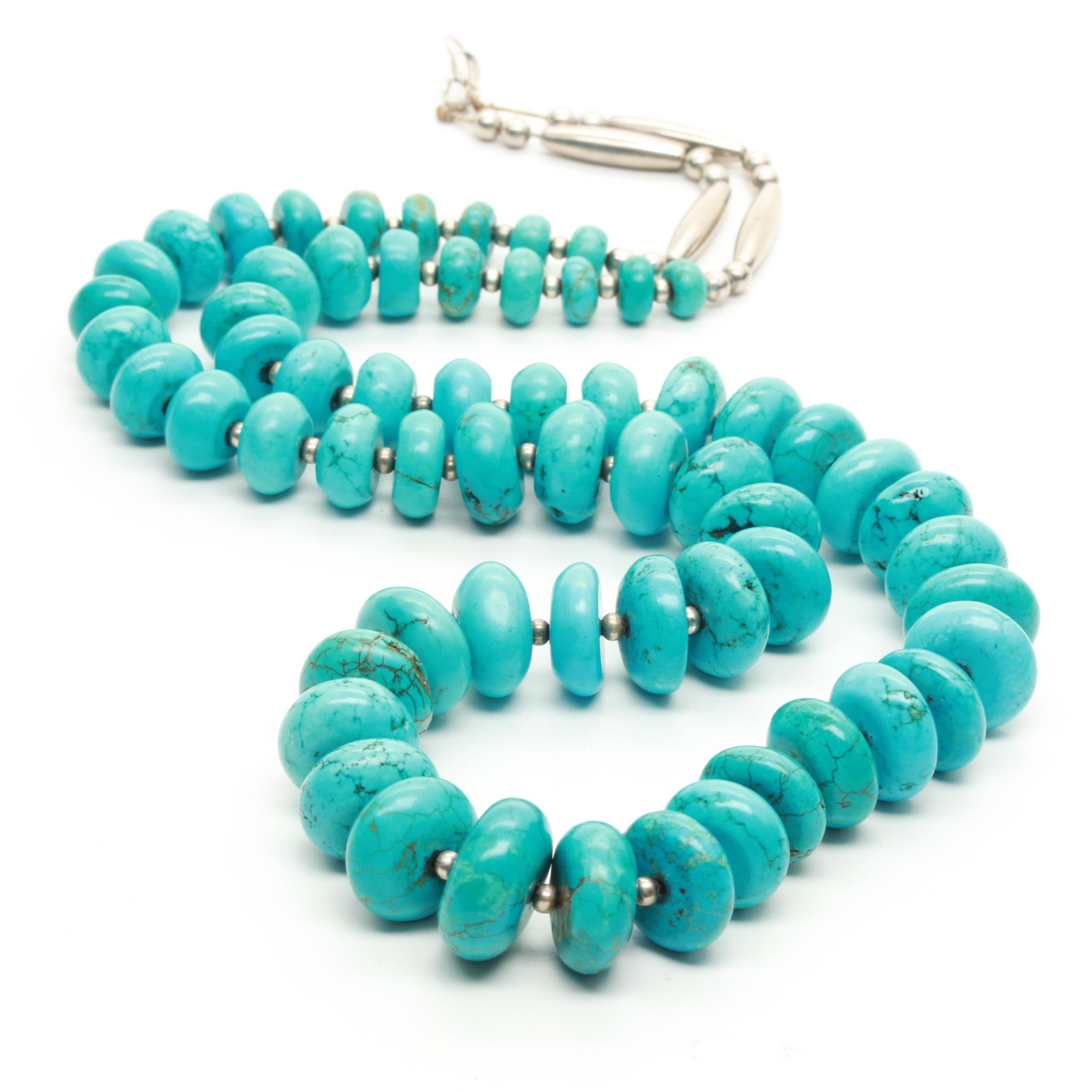 Southwestern Style Magnesite Beaded Necklace