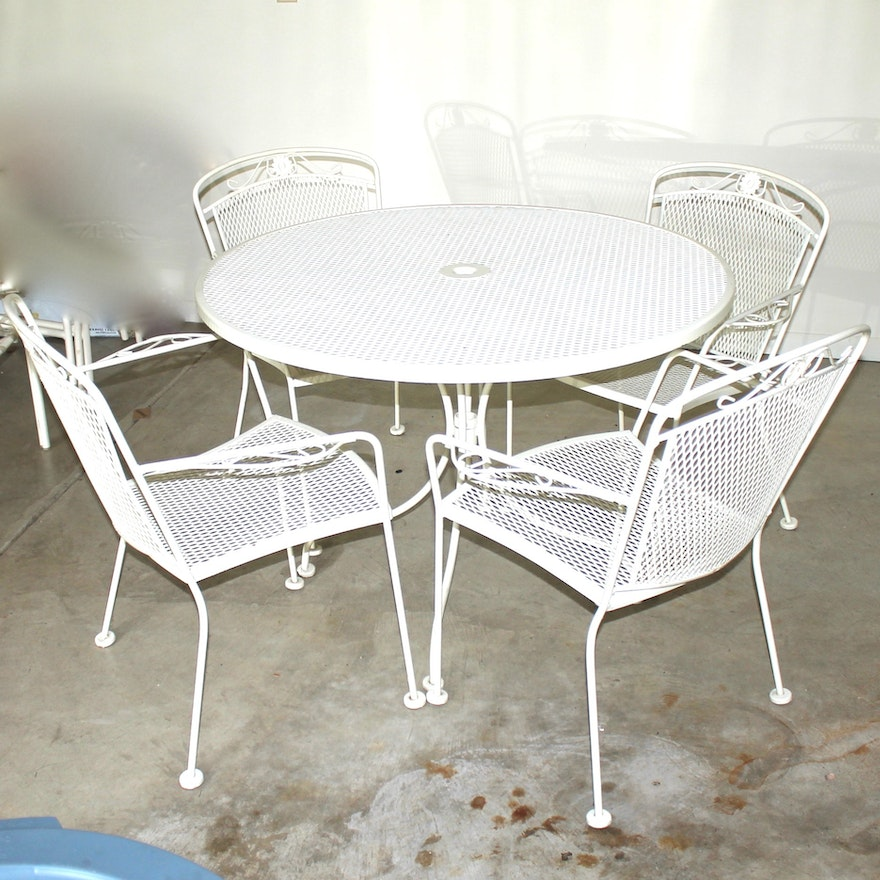 Vintage Russel Woodward Mesh Patio Furniture Set