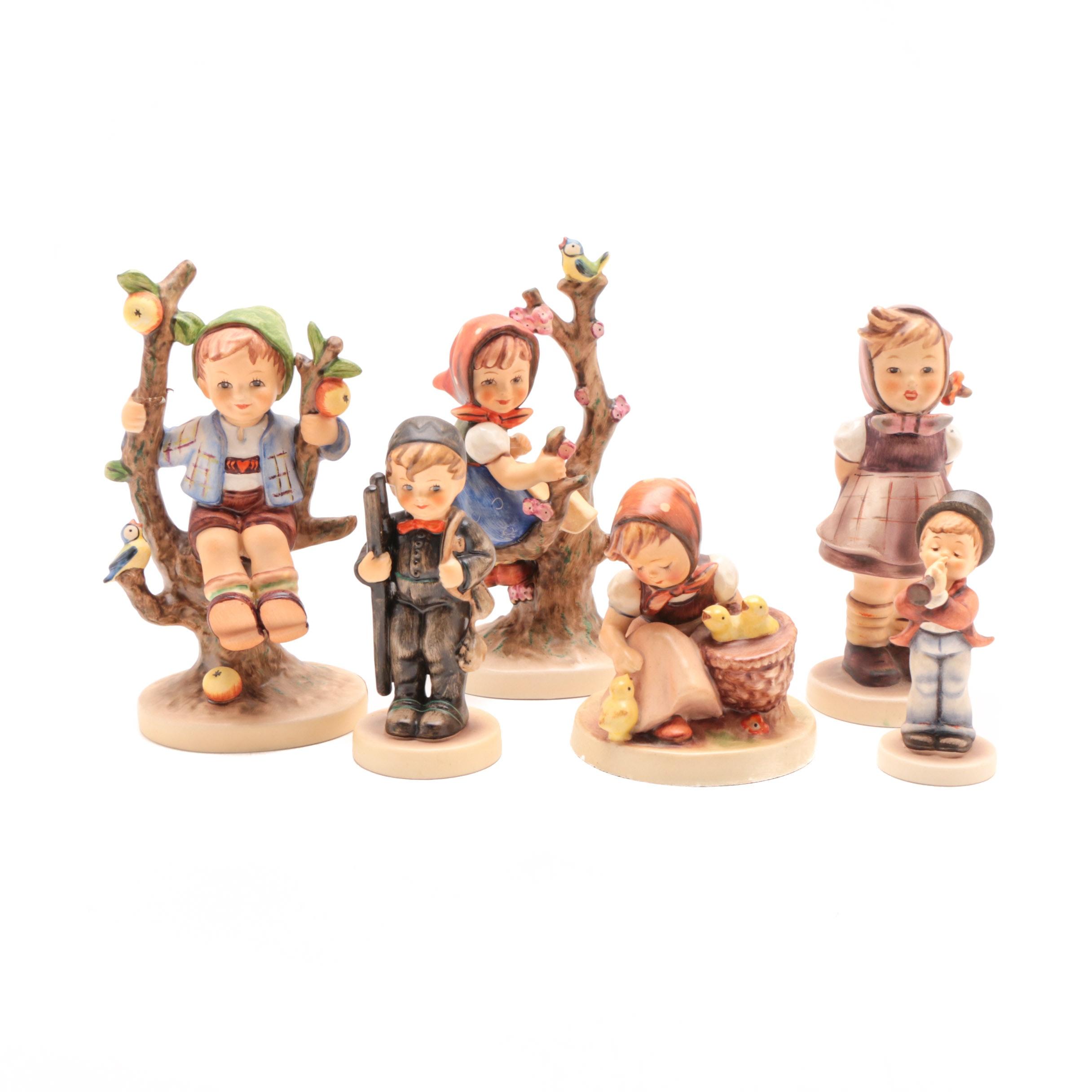 Vintage Goebel Porcelain Figurines Including Early Hummel