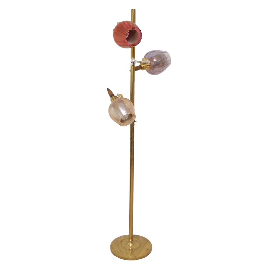 Mid Century Modern Three Light Floor Lamp