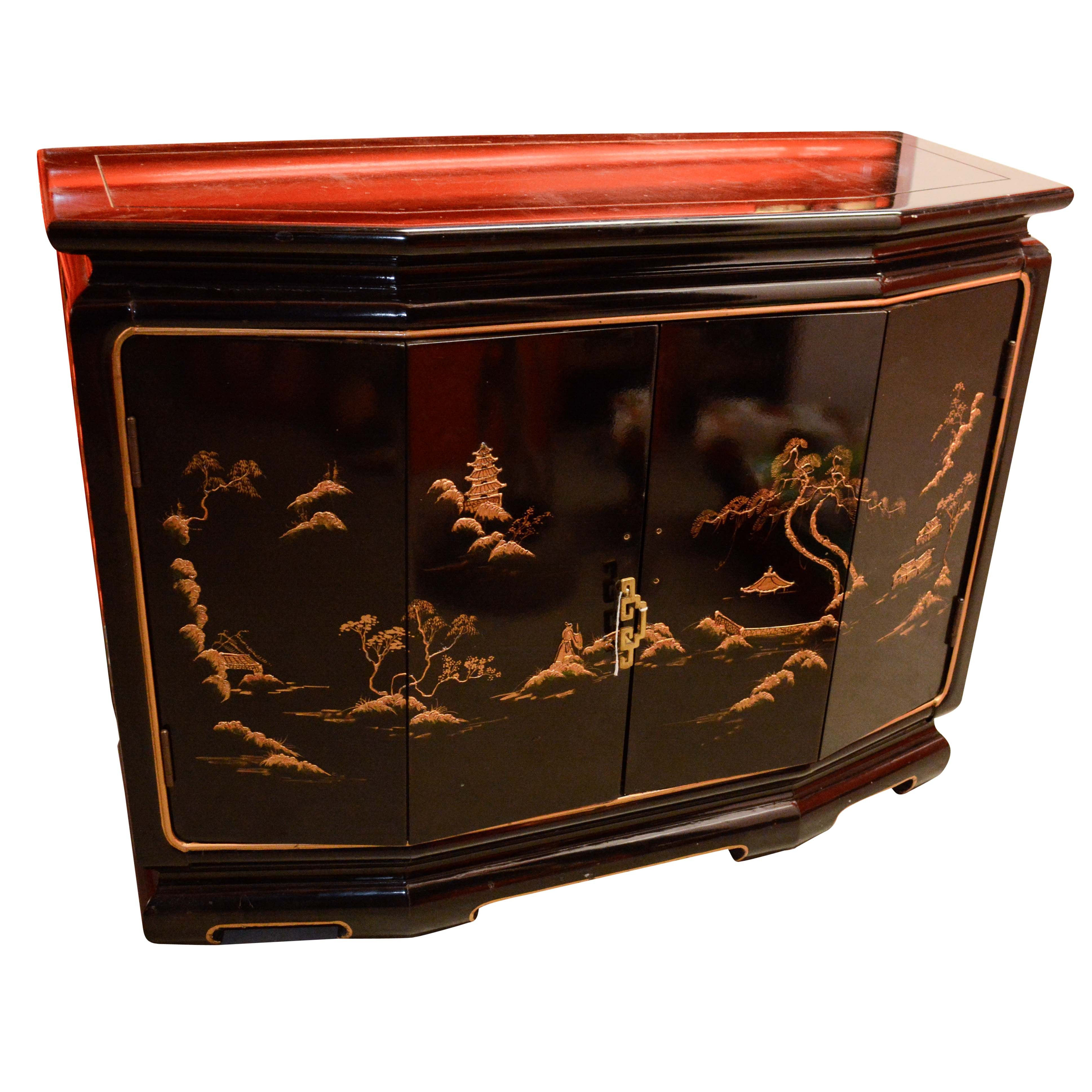 Chinoiserie Lacquered Cabinet