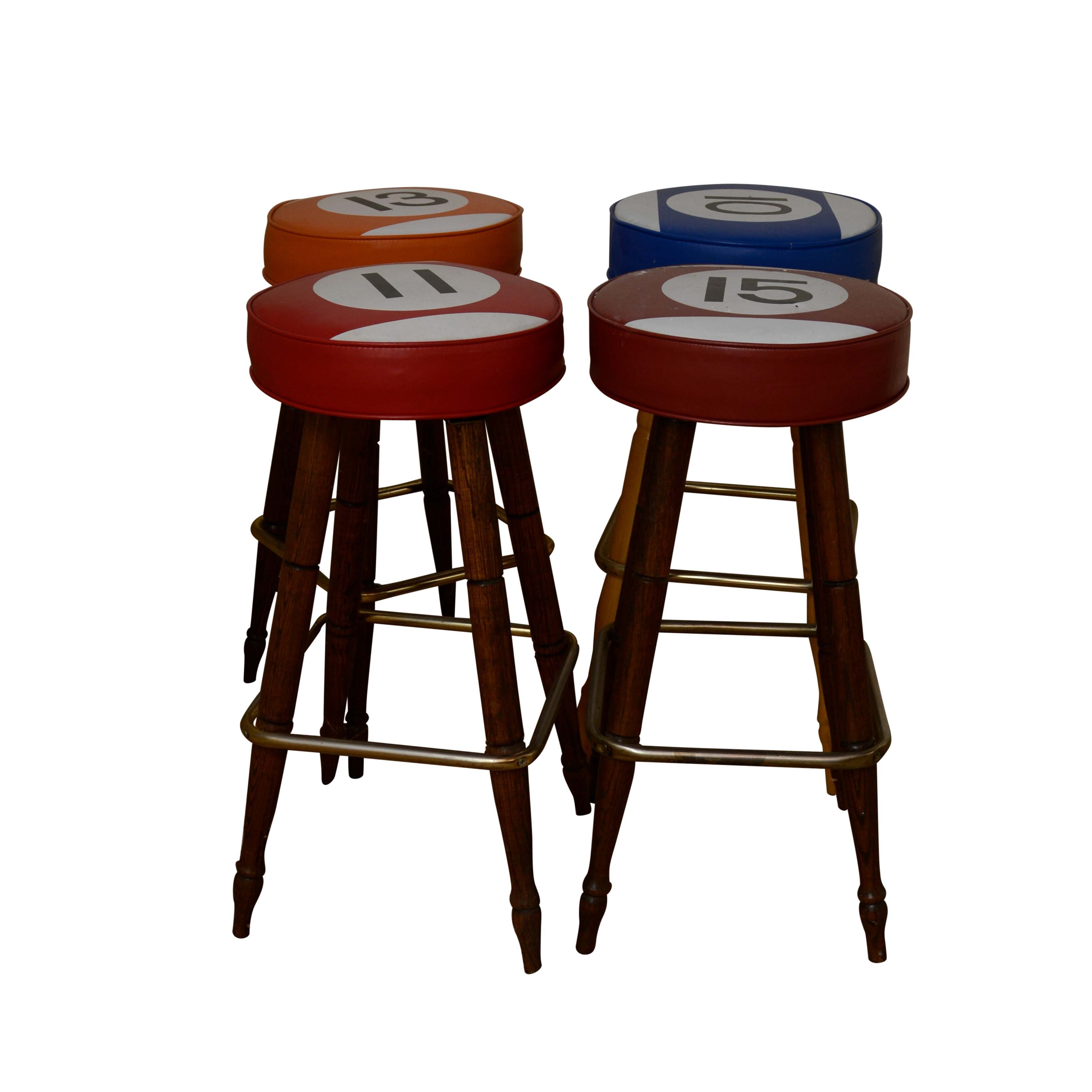 Four Billiard Ball Theme Barstools