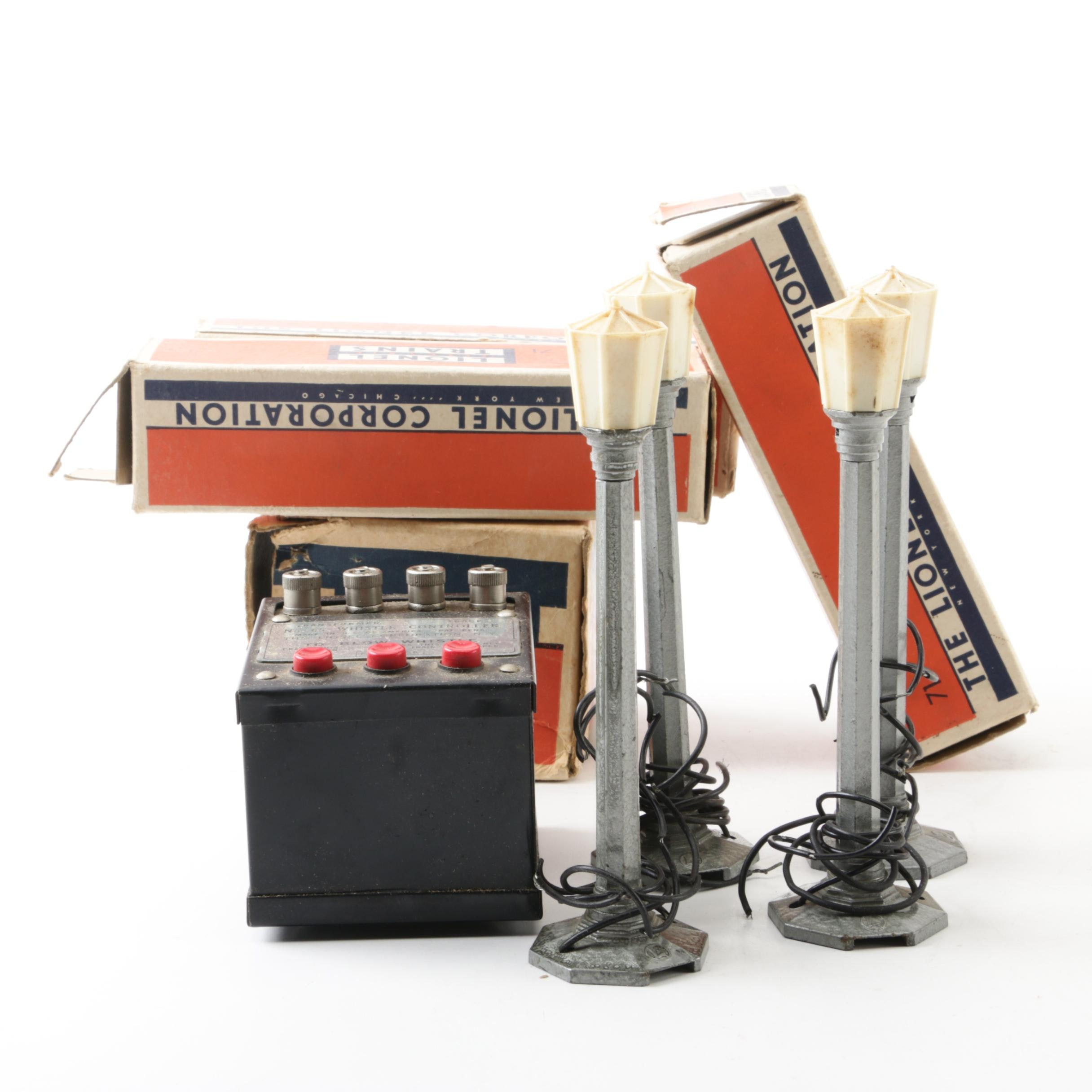 Lionel Lamp Posts and Whistle Controller