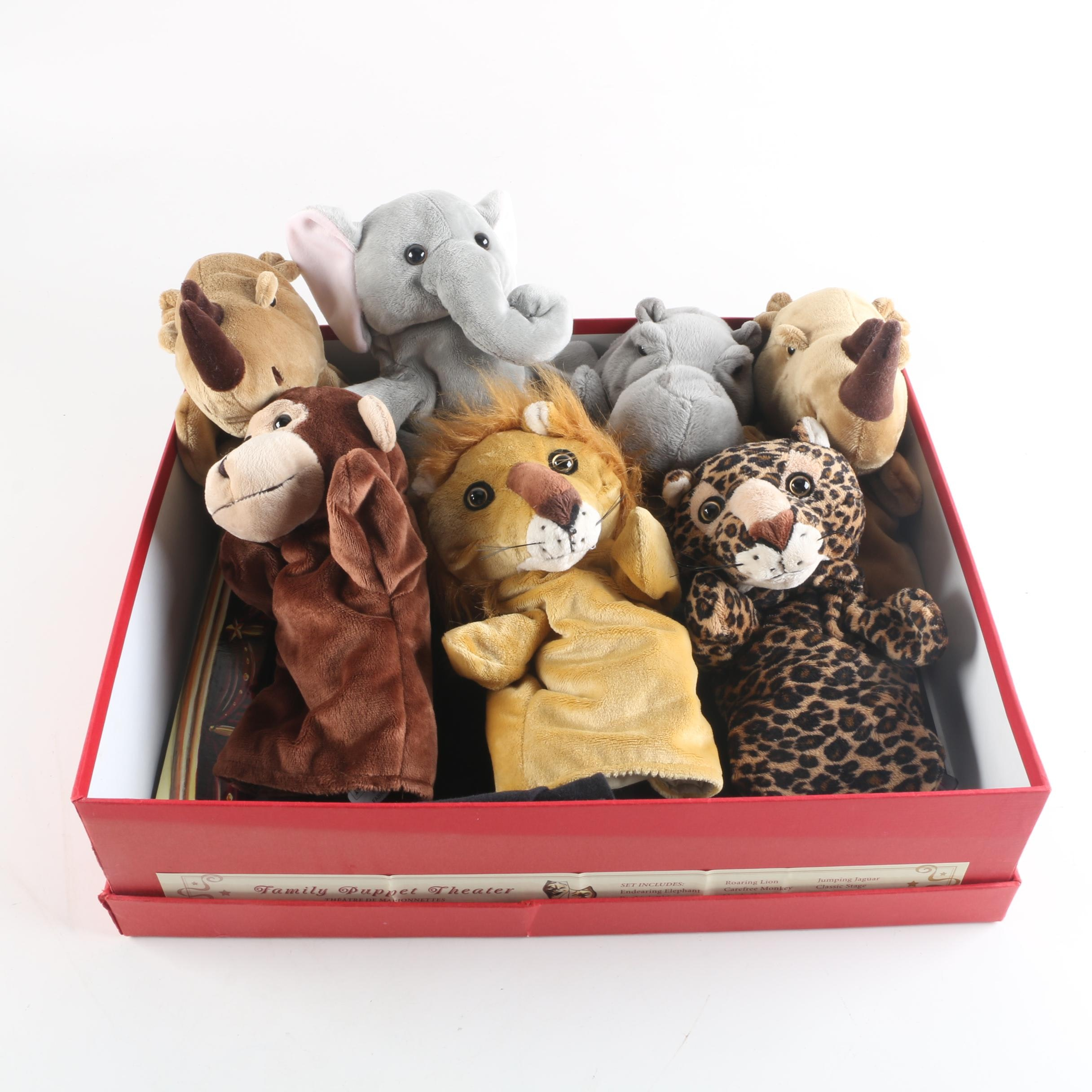 """Restoration Hardware """"Family Puppet Theater"""" with Hand Puppets"""