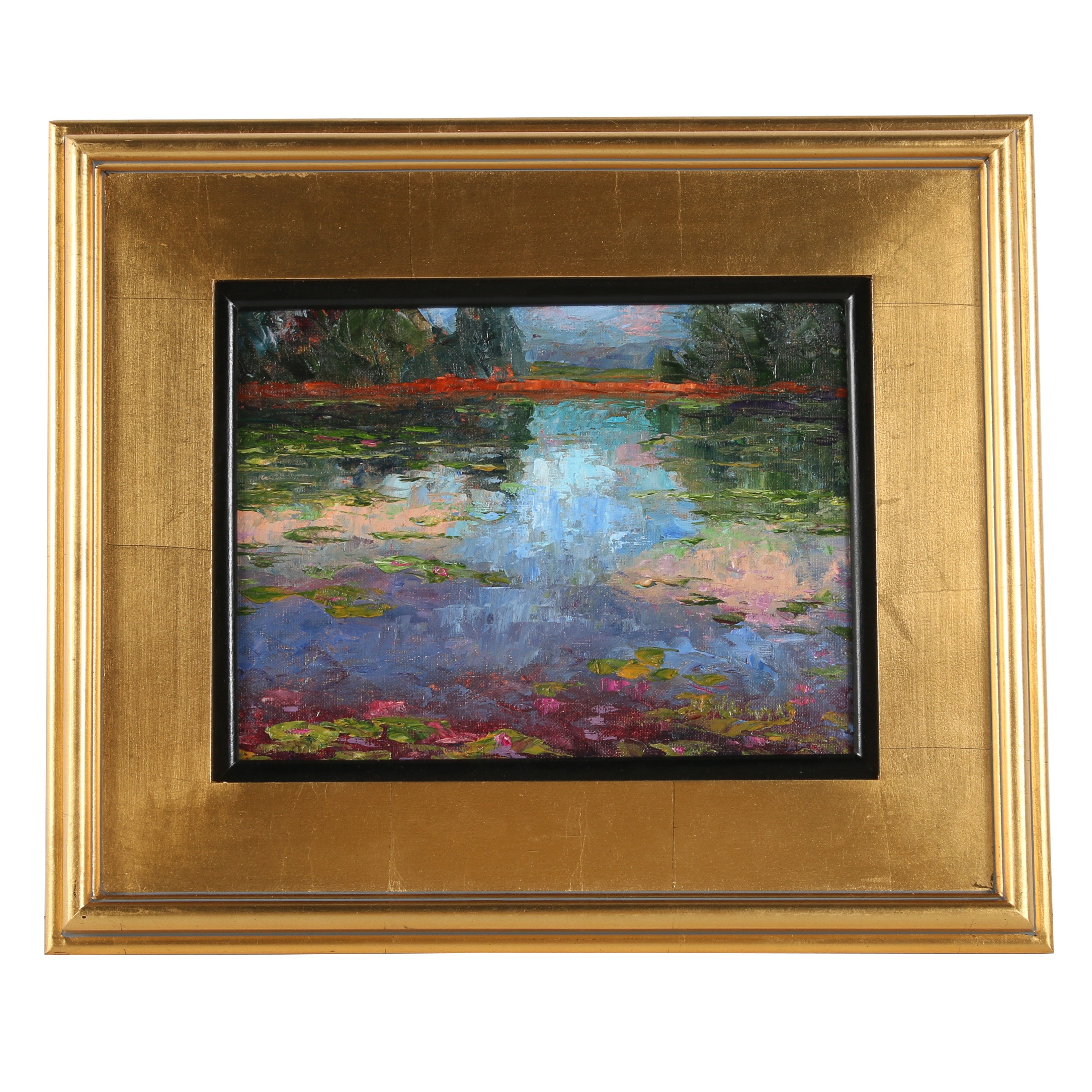 "James Baldoumas Oil Painting ""Summer Pond"""