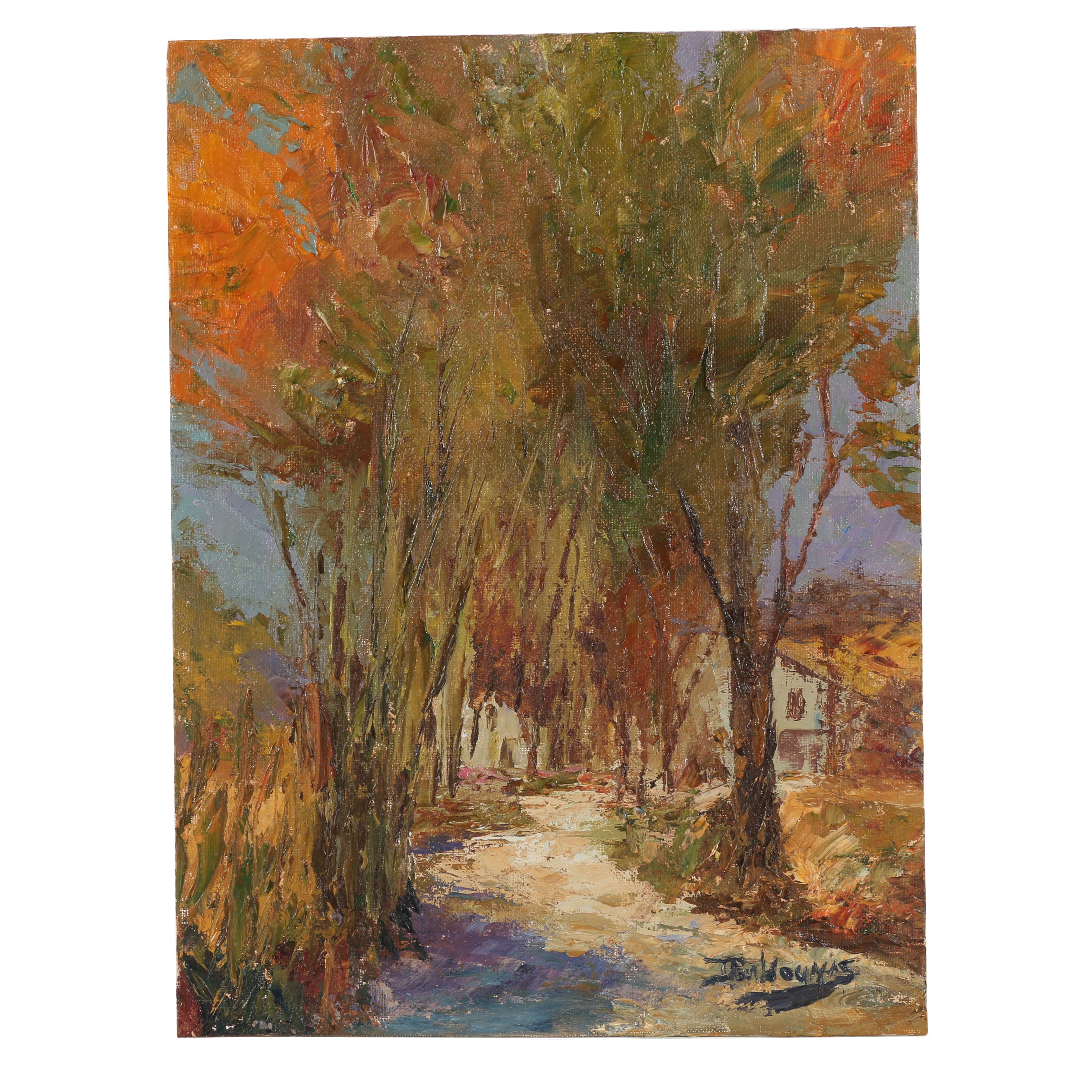 "James Baldoumas Oil Painting ""Country Lane"""