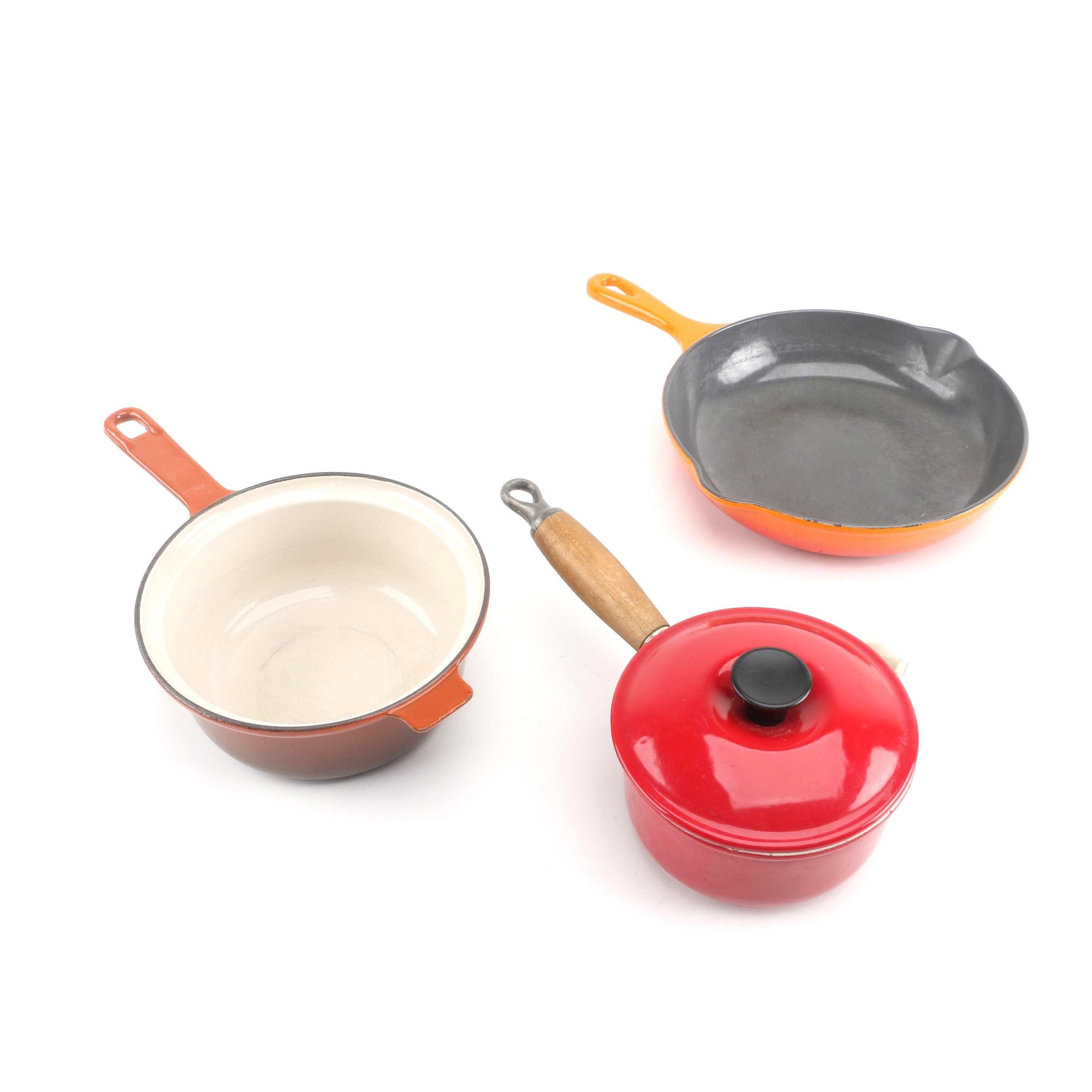Le Creuset and Cousances Enameled Cookware