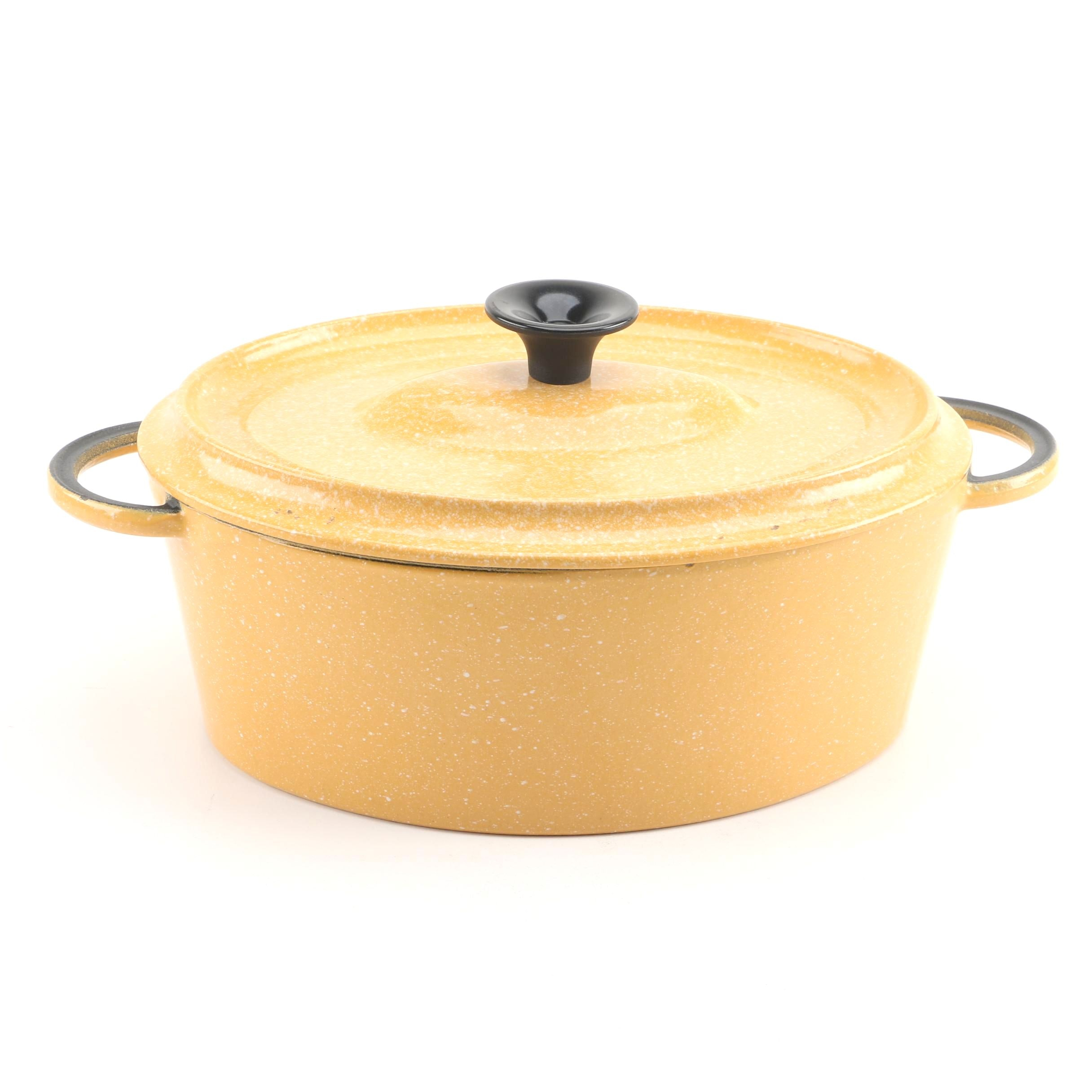 French Enameled Cast Iron Dutch Oven