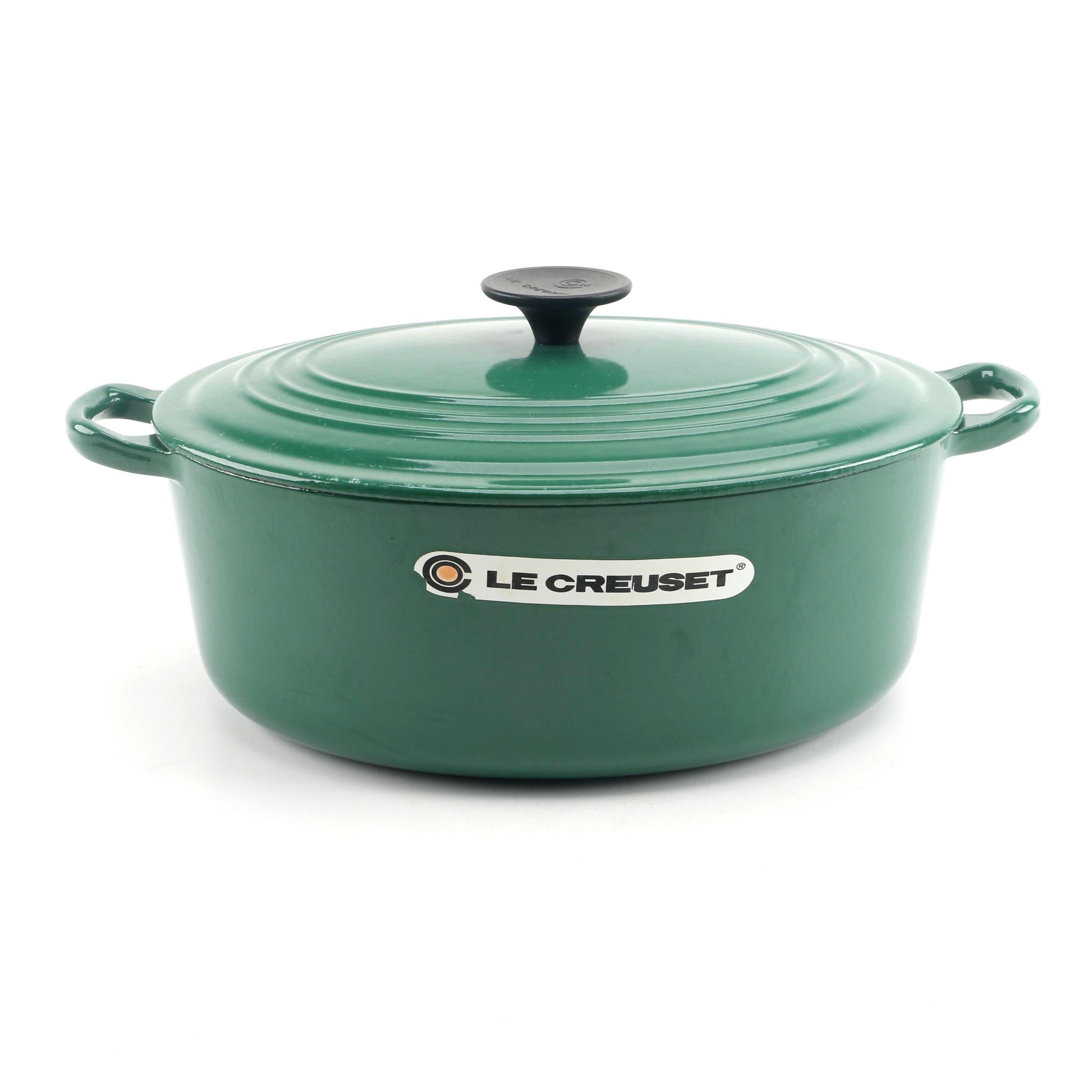 Le Creuset Green Enameled Cast Iron Dutch Oven