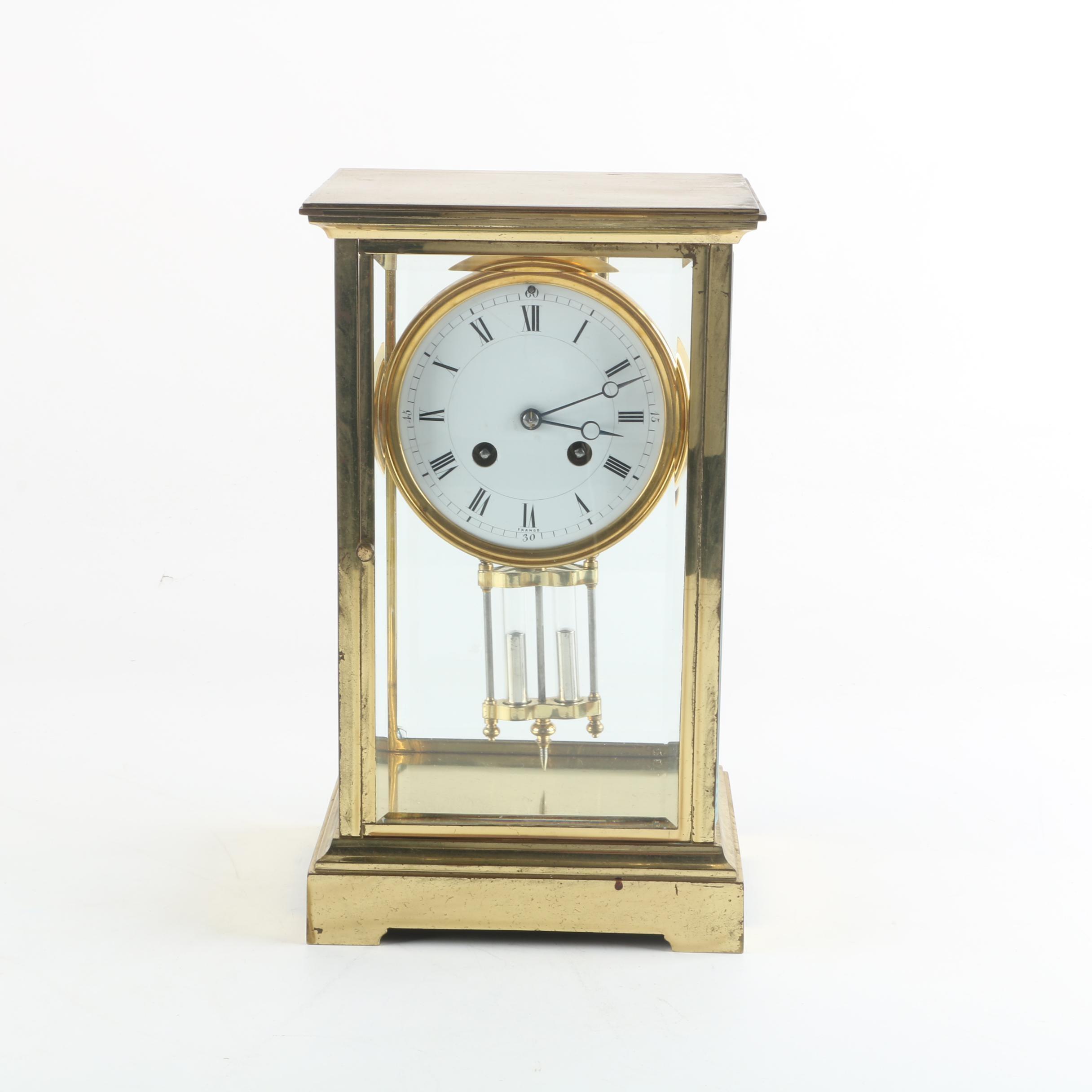 French Mercury Crystal Regulator Pendulum Mantel Clock for Harris & Harrington