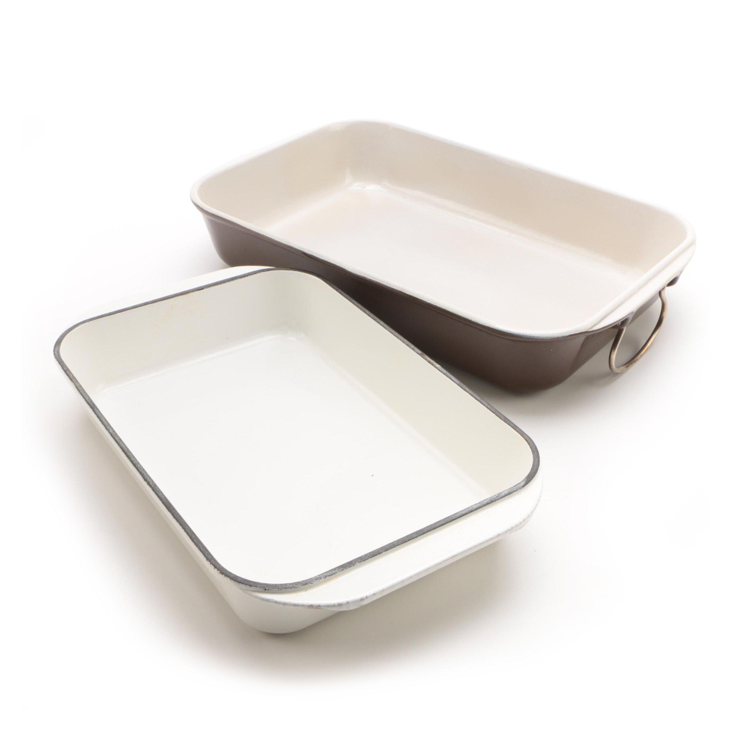 Vintage Le Creuset Enameled Roasting Pans