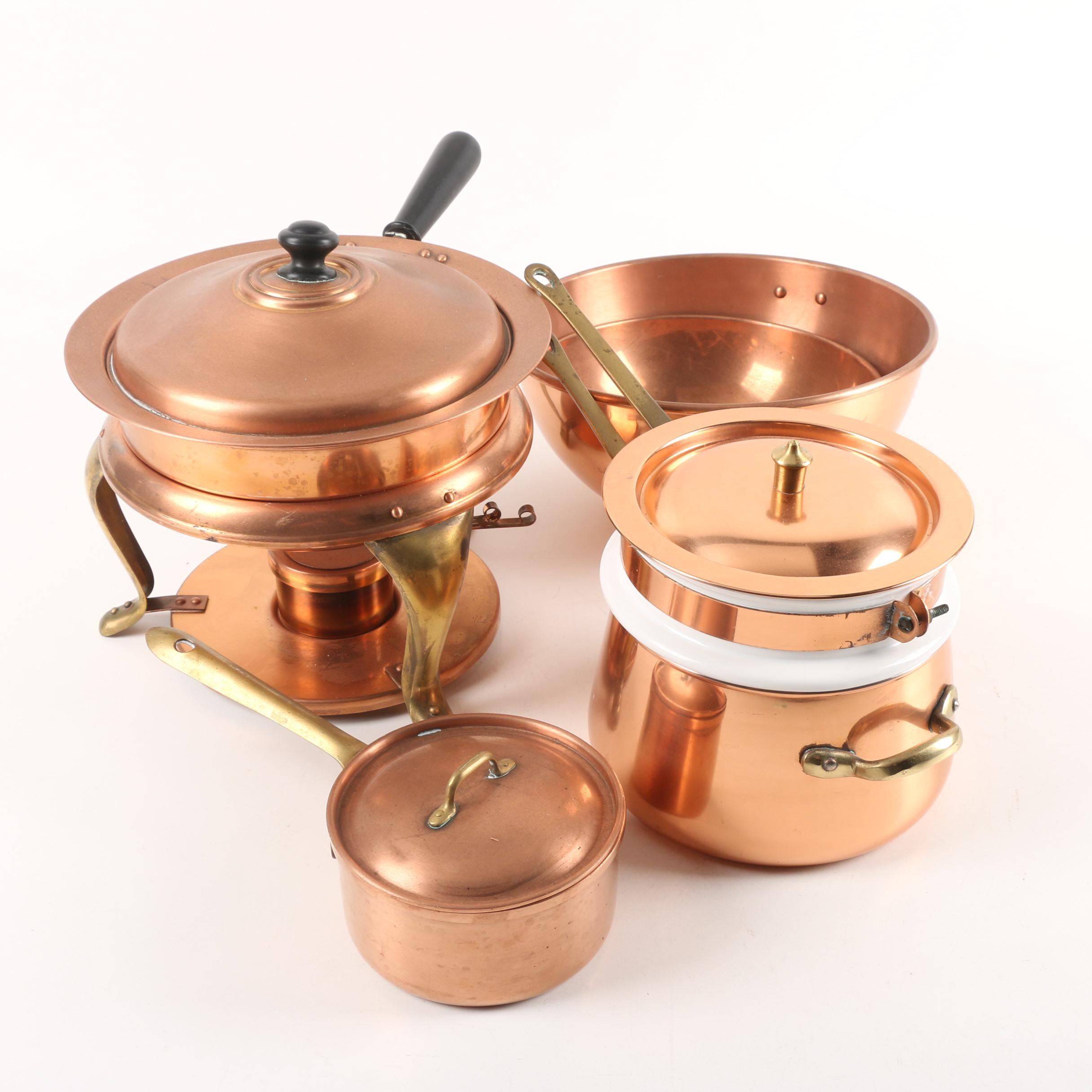 Copper Cookware Featuring Tagus Portugal