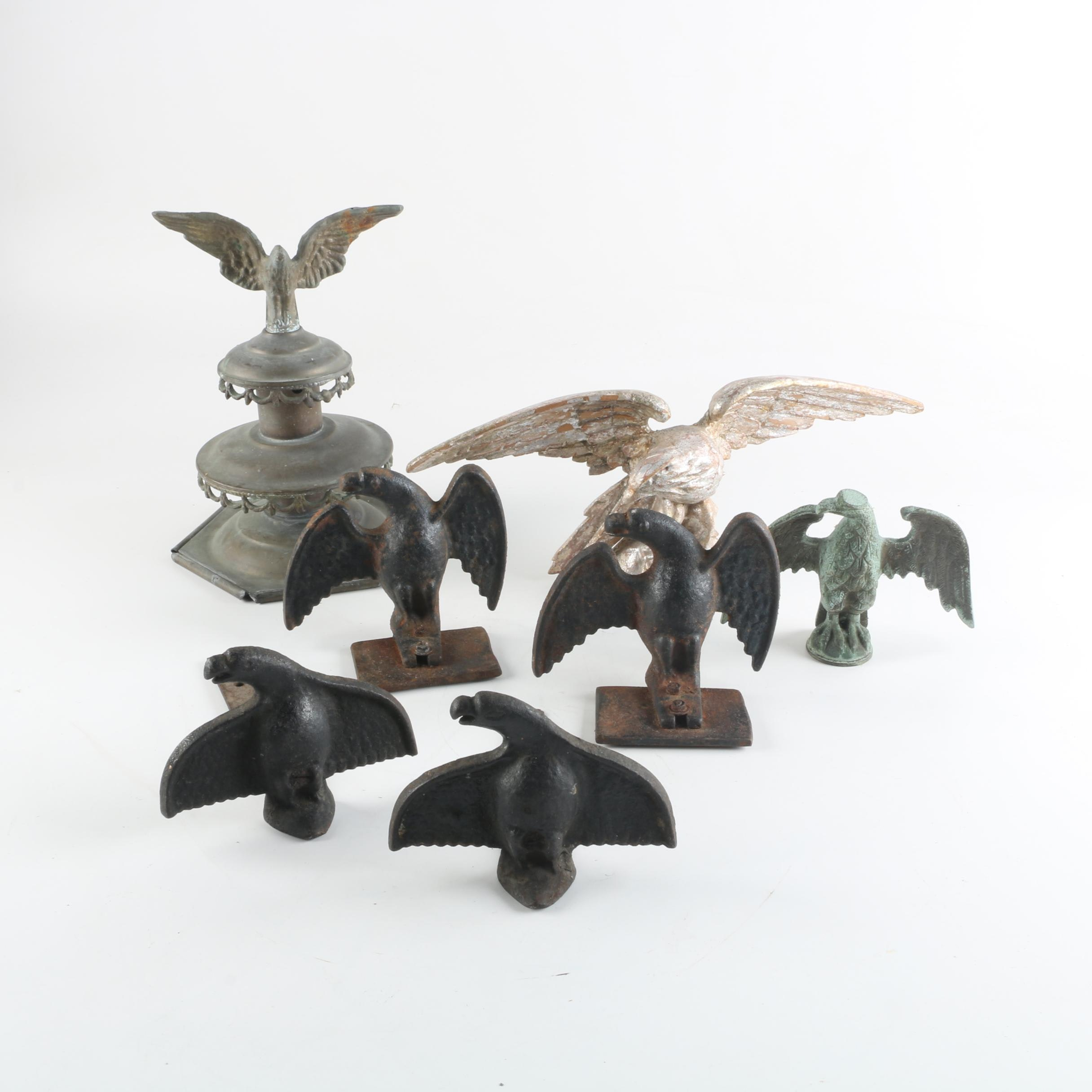 Antique Cast Iron Eagle Roof Ice Guards and Other Eagle Themed Decor