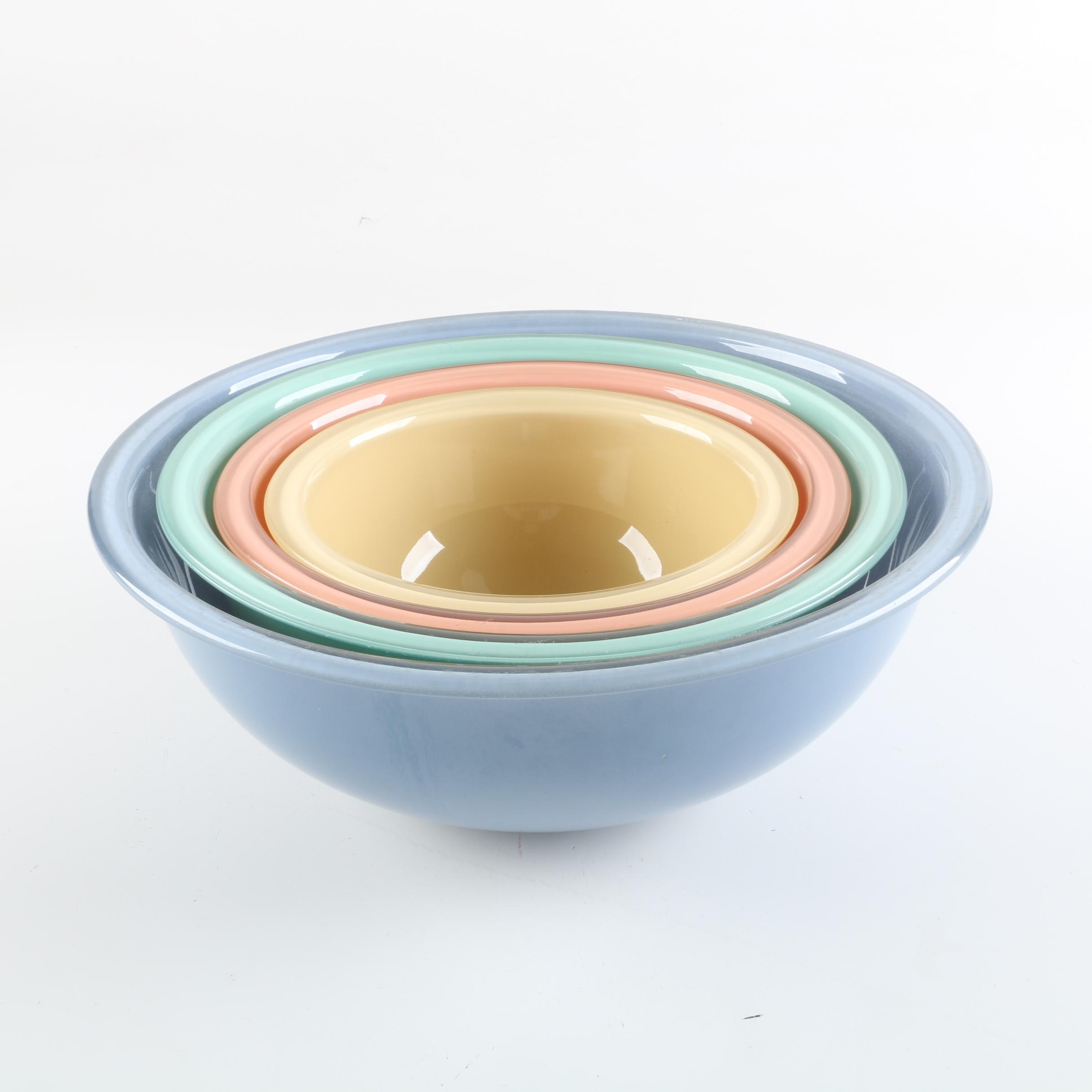 Vintage Pyrex Southwest Pastel Glass Nesting Bowls