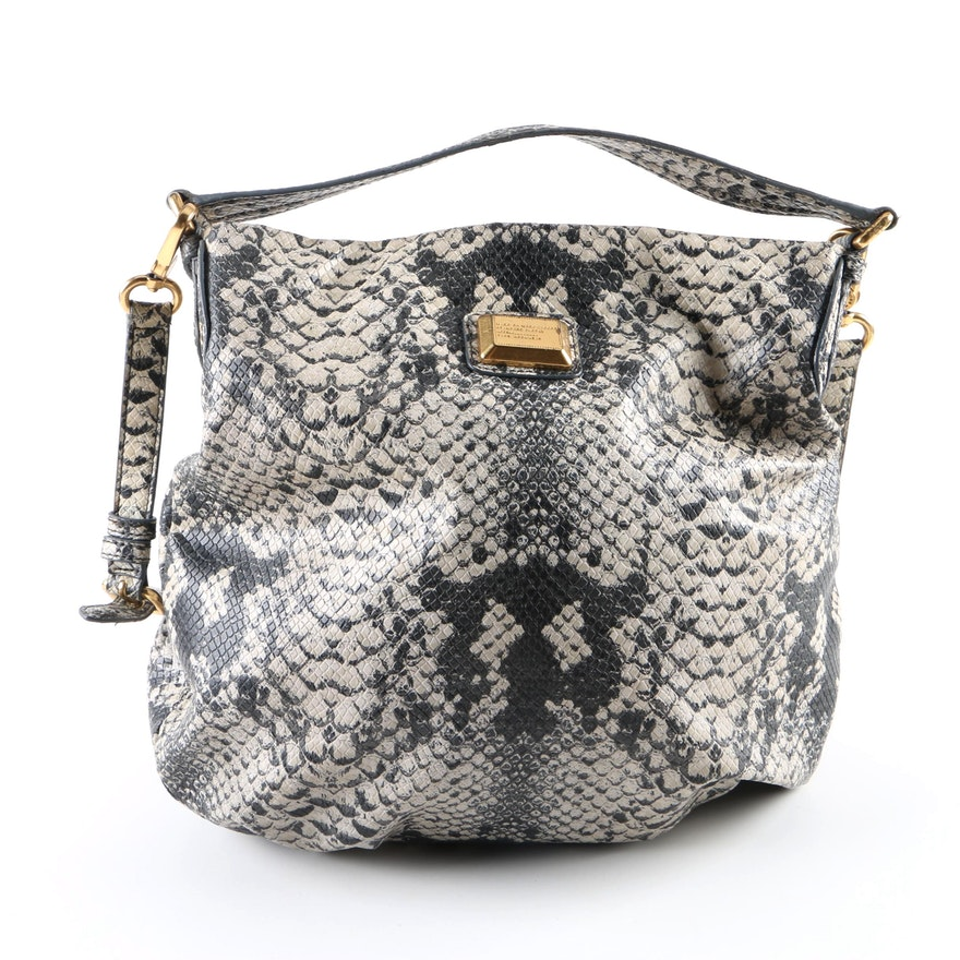 45548b50ab95 Marc by Marc Jacobs Python Embossed Faux Leather Hobo Bag   EBTH