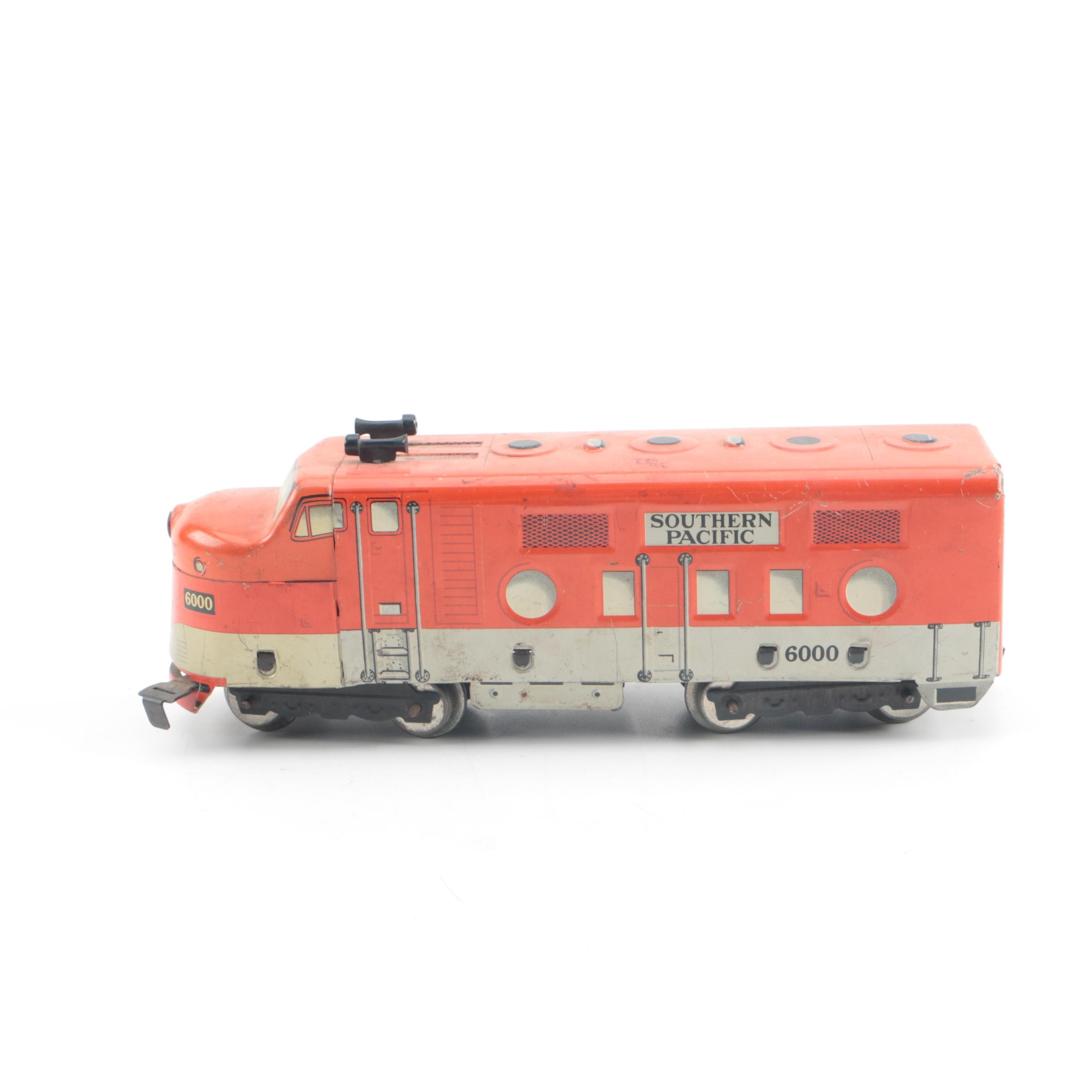 Vintage Marx Southern Pacific Metal Locomotive