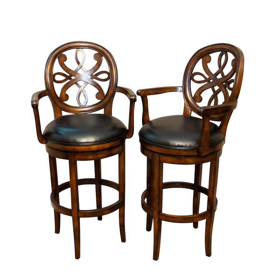 Pair Of Bar Stools By Frontgate Furniture Company Ebth