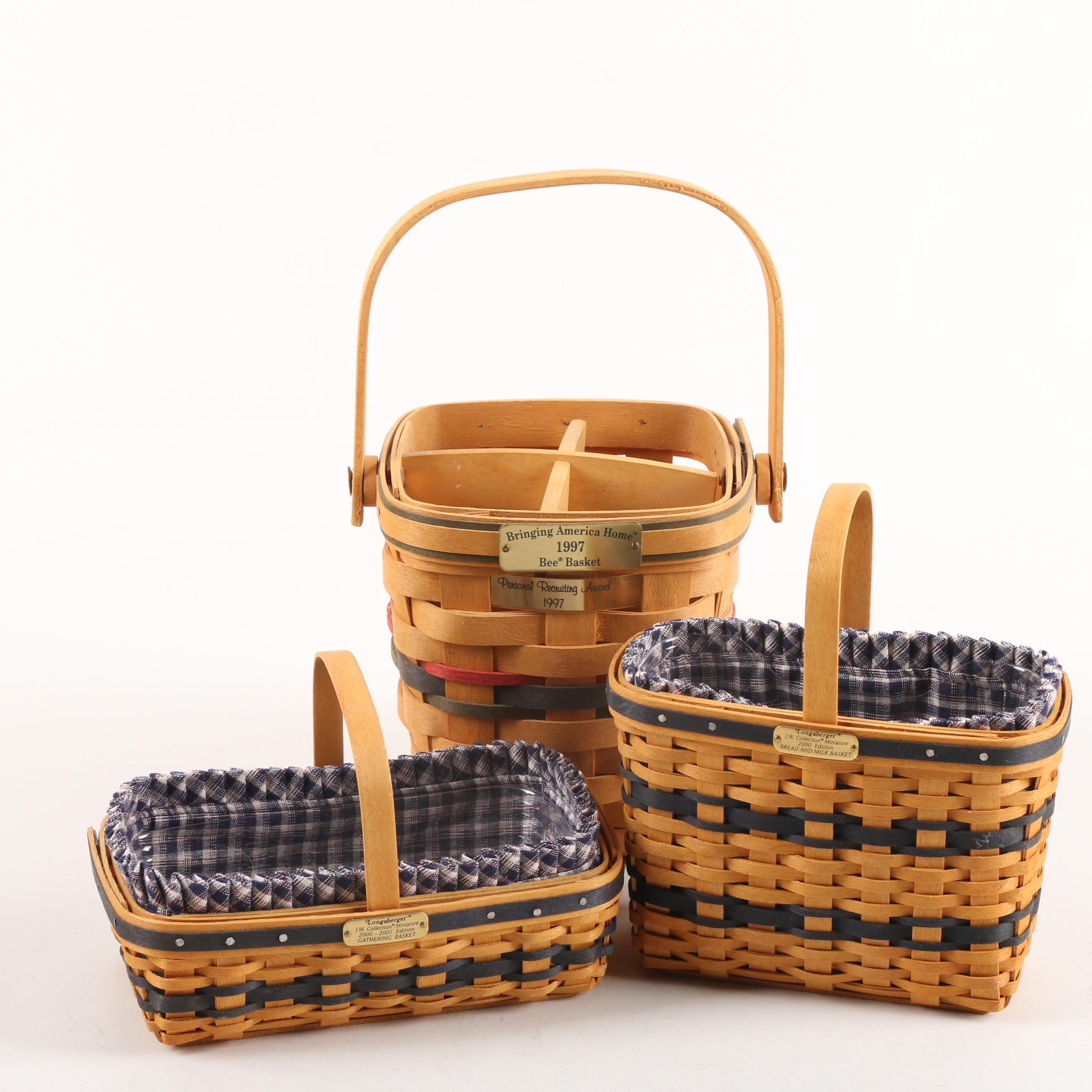 Longaberger Handwoven Baskets including J.W. Collection