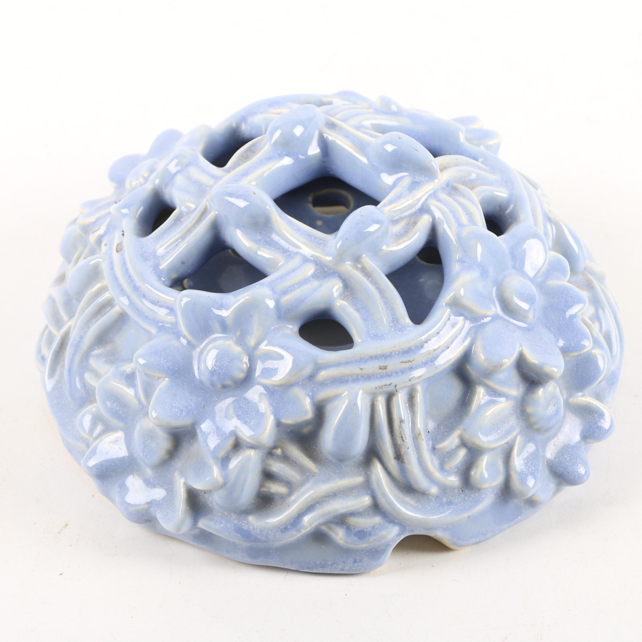"""Circa 1920s Weller Pottery """"Lavonia"""" Flower Frog"""