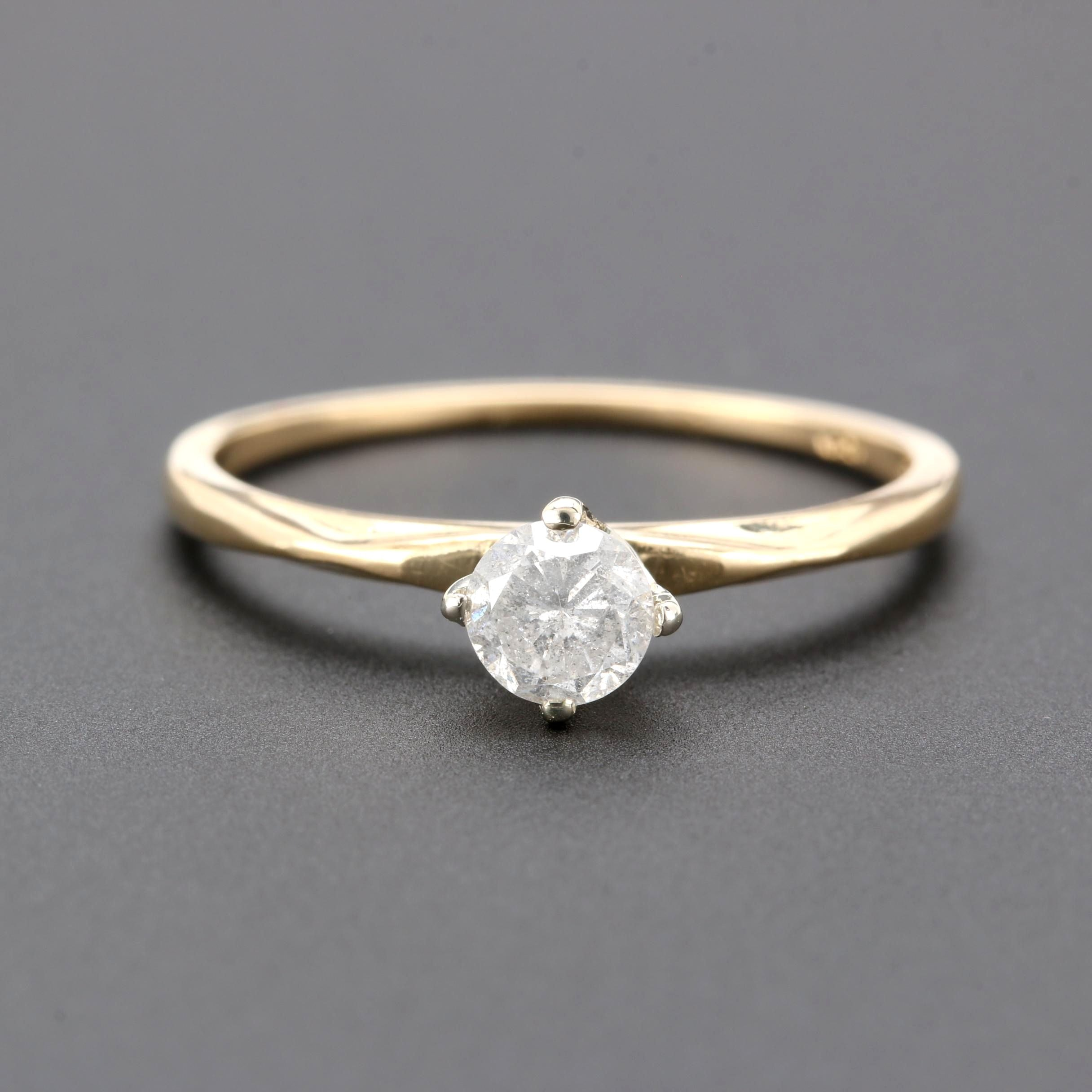 Orange Blossom 18K Yellow Gold Diamond Solitaire Ring