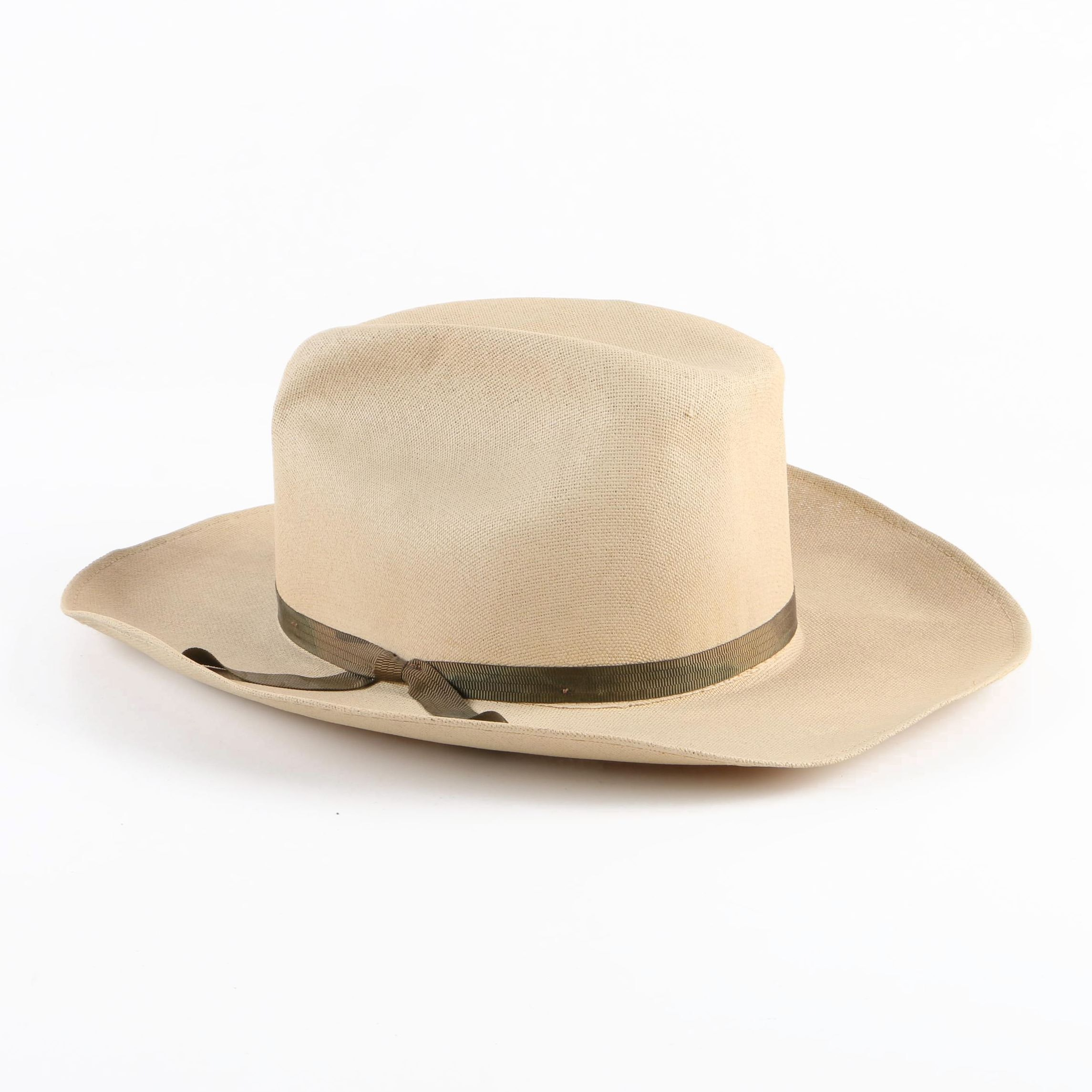 Men's Vintage Miller Brothers Straw Ranch Hat