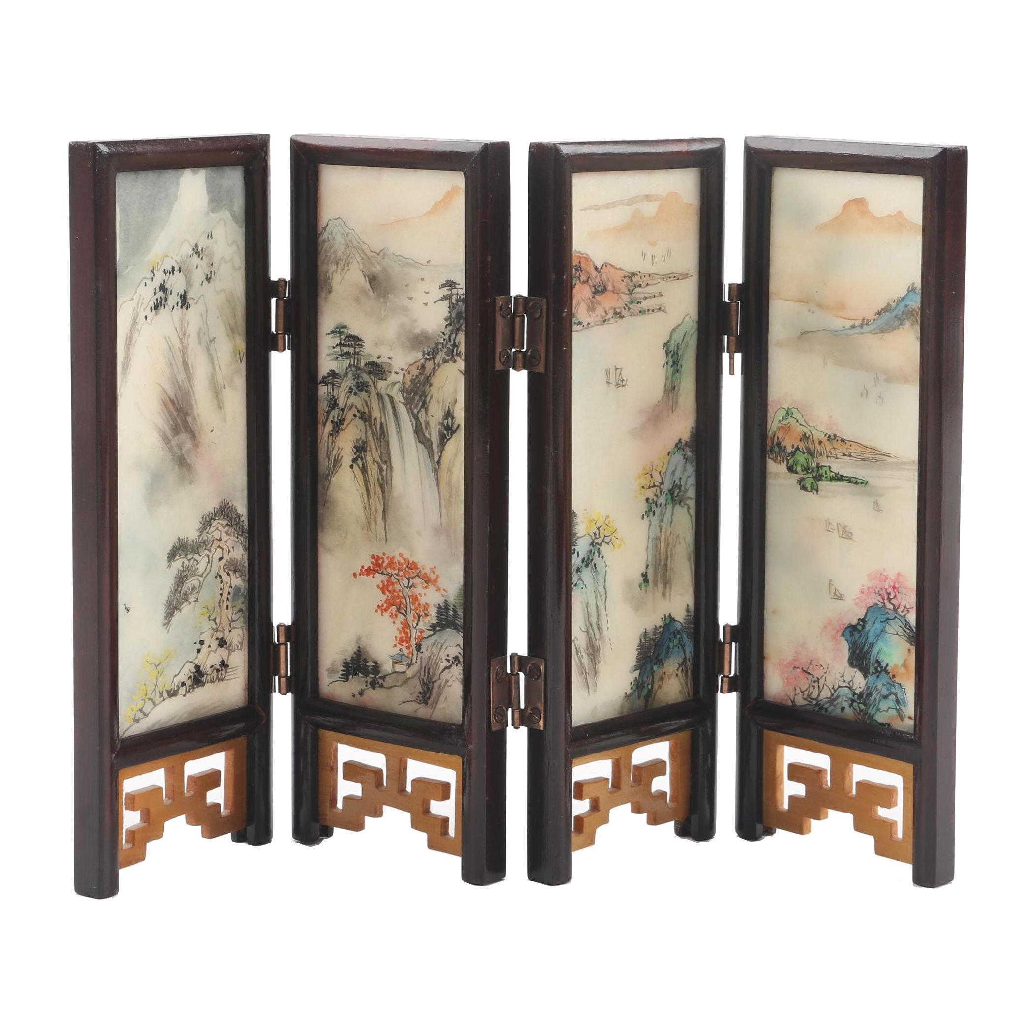 Small Chinese Table Folding Screen