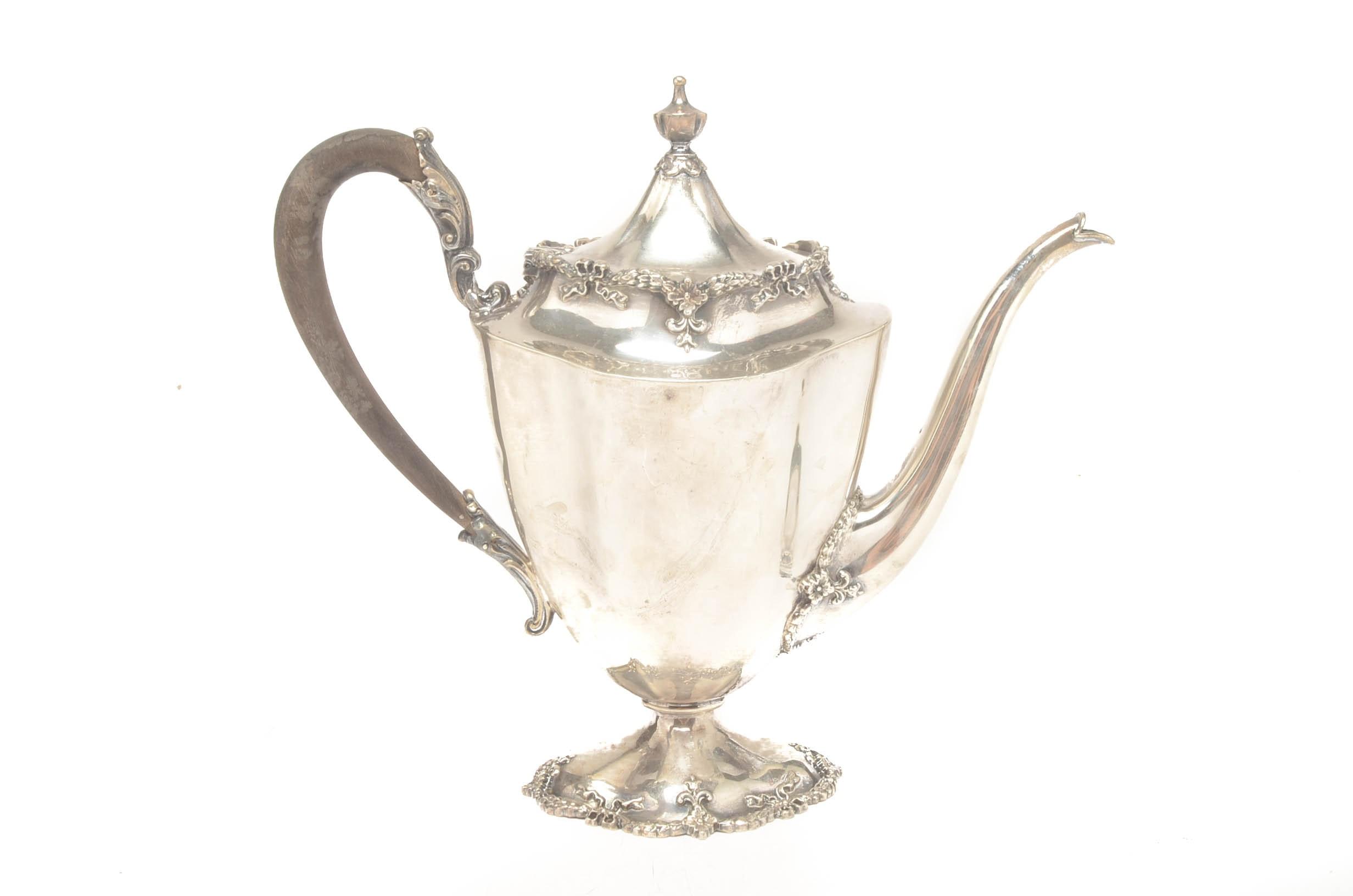 Sterling Silver Frank Herschede Co. Tea Pot