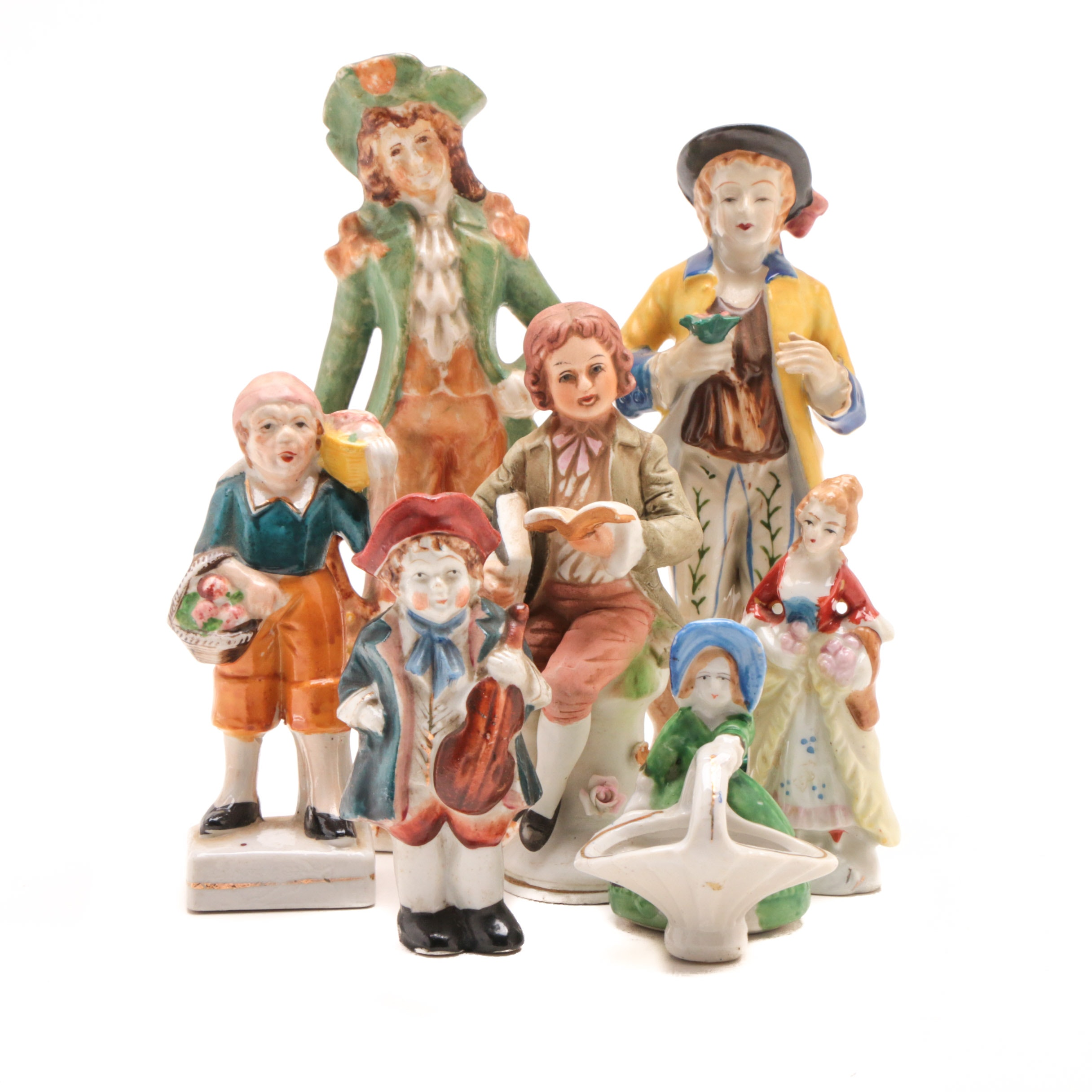 Group of Porcelain Figurines in 18th Century Dress