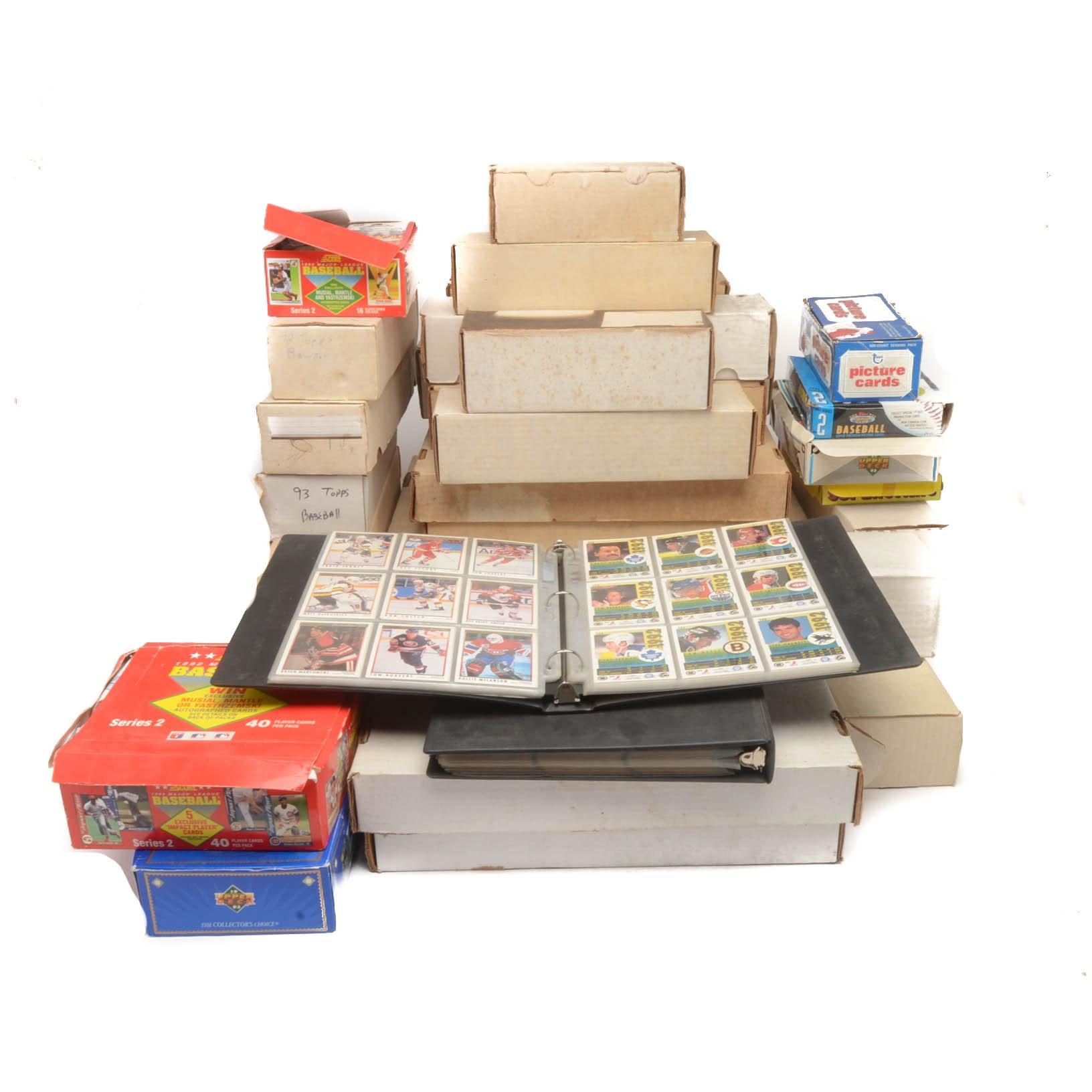 Massive Collection Of 1980s 1990s Baseball, Football, And Basketball Cards